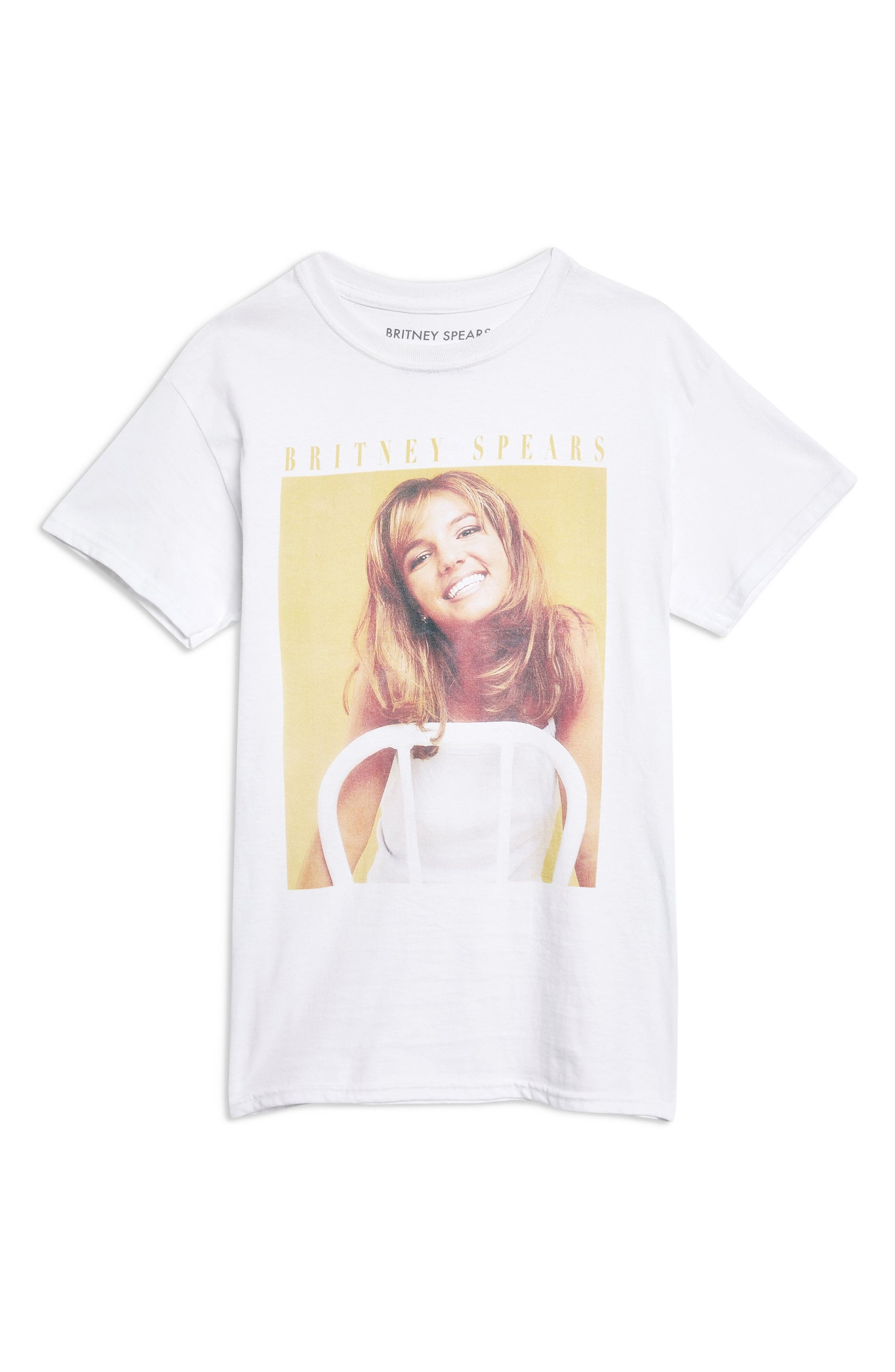 TOPSHOP,                             Britney Spears Graphic Tee,                             Alternate thumbnail 4, color,                             100