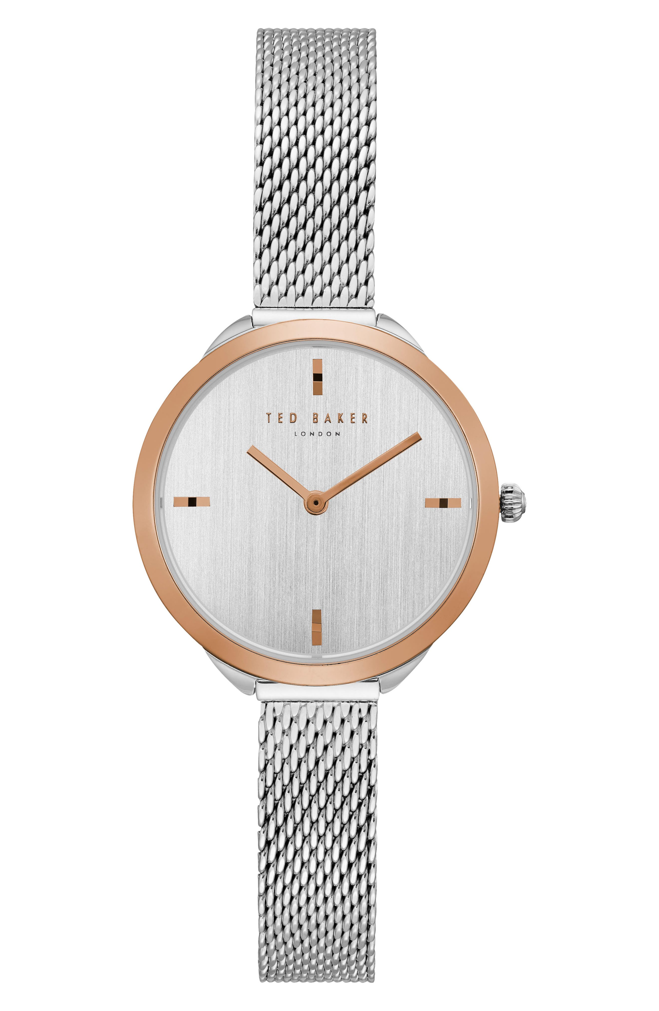 Elana Mesh Strap Watch, 30mm,                             Main thumbnail 1, color,                             040