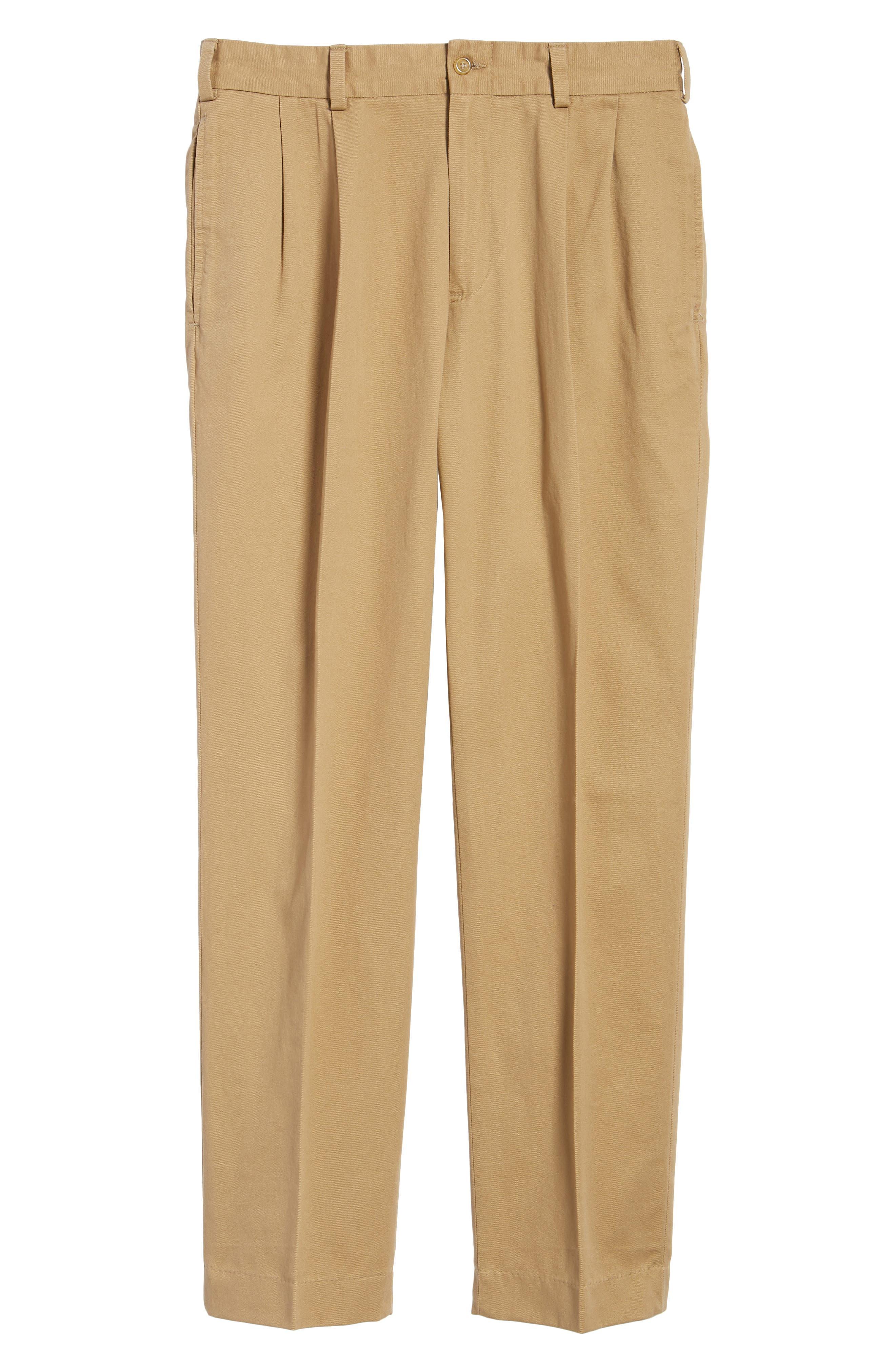 M2 Classic Fit Pleated Vintage Twill Pants,                             Alternate thumbnail 6, color,                             BRITISH KHAKI