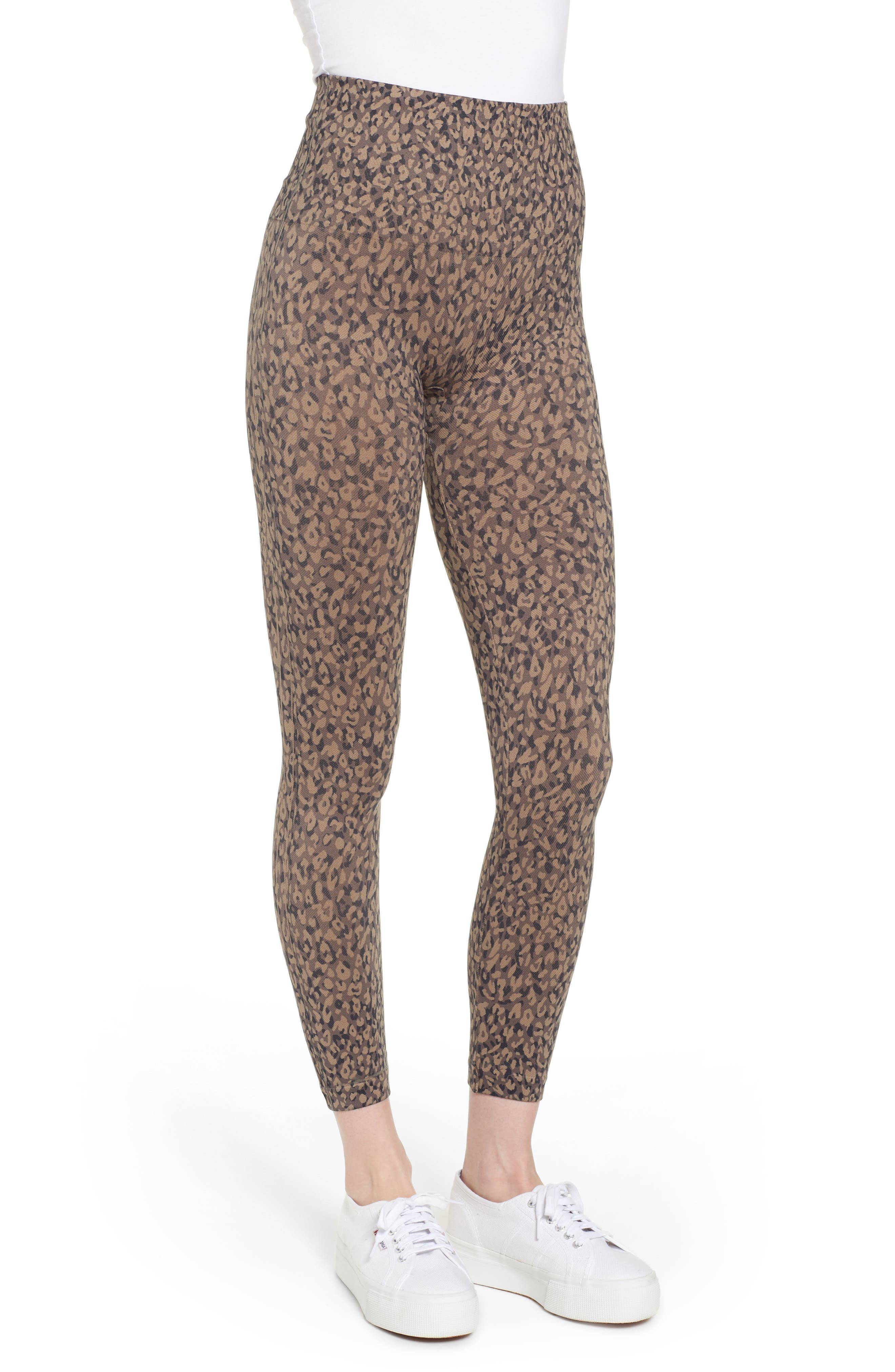 Look at Me Now' Seamless Leggings,                             Alternate thumbnail 3, color,                             MINI LEOPARD