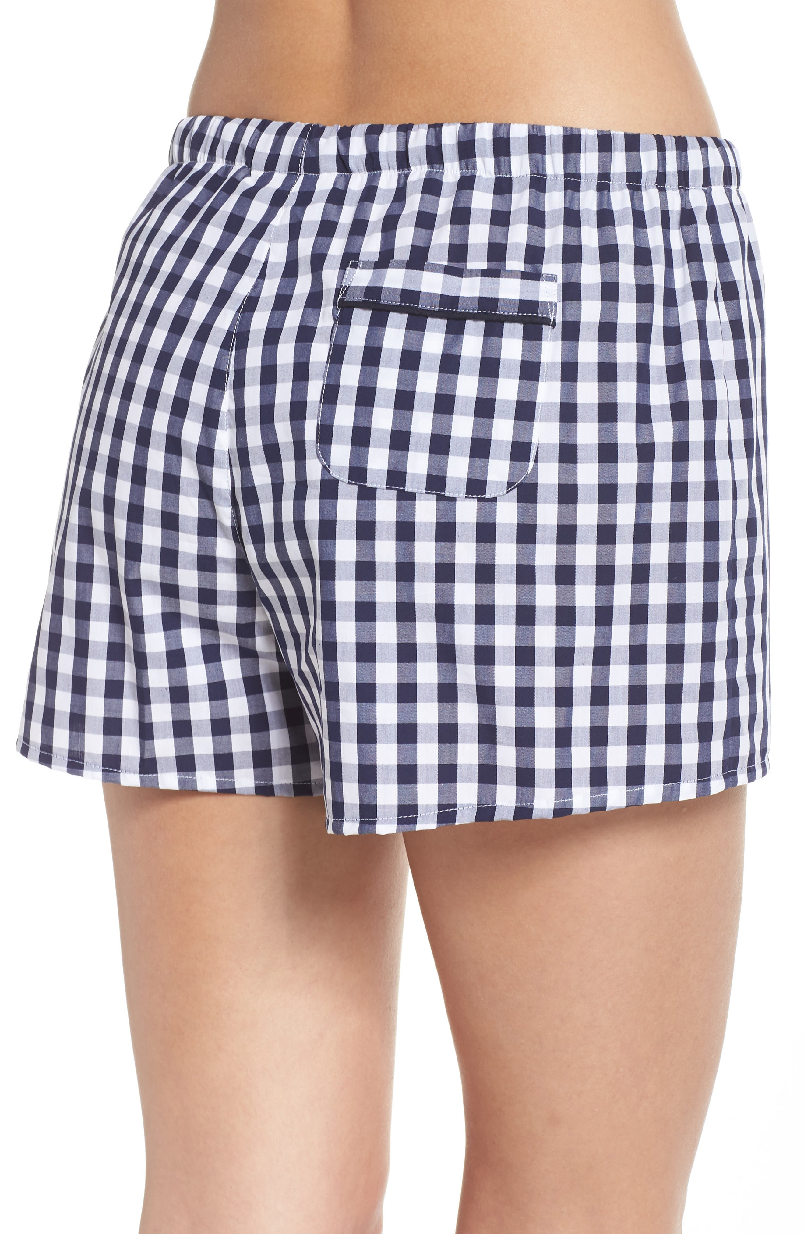Paloma Women's Pajama Shorts,                             Alternate thumbnail 3, color,                             LARGE GINGHAM BLUE