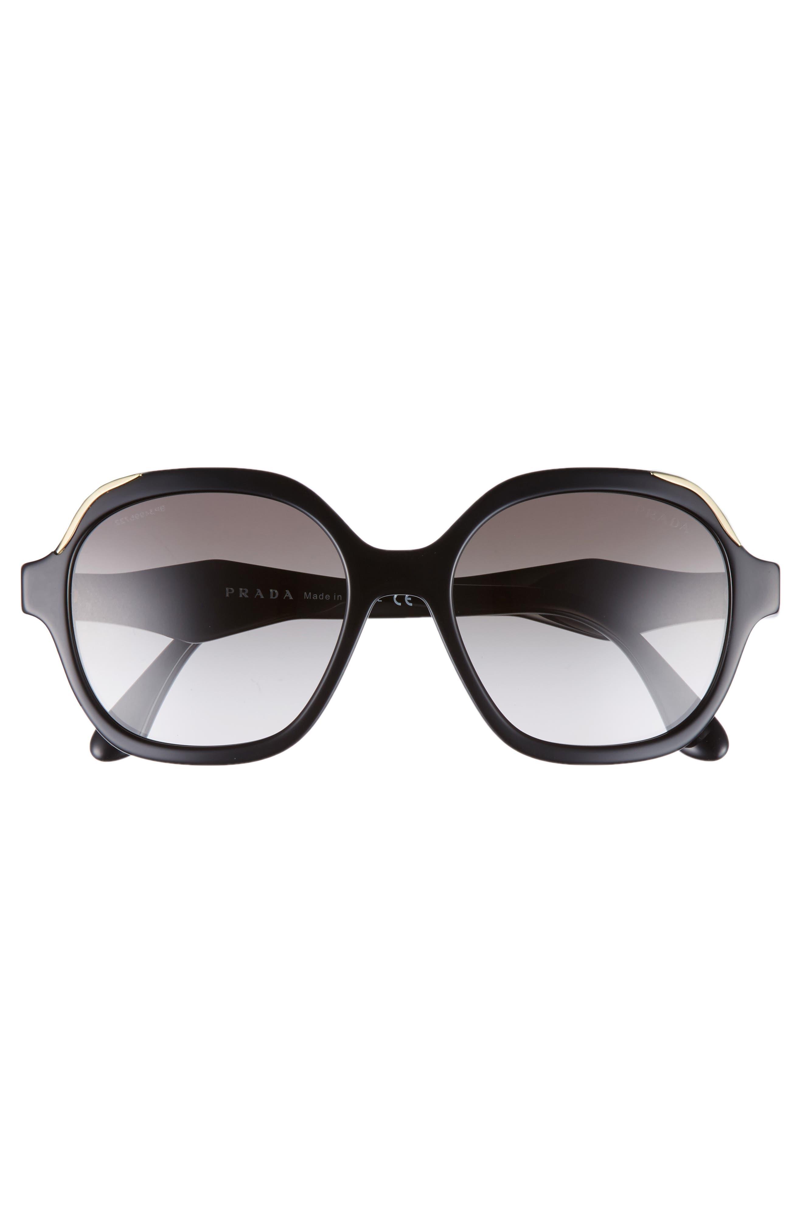 52mm Geometric Gradient Sunglasses,                             Alternate thumbnail 7, color,