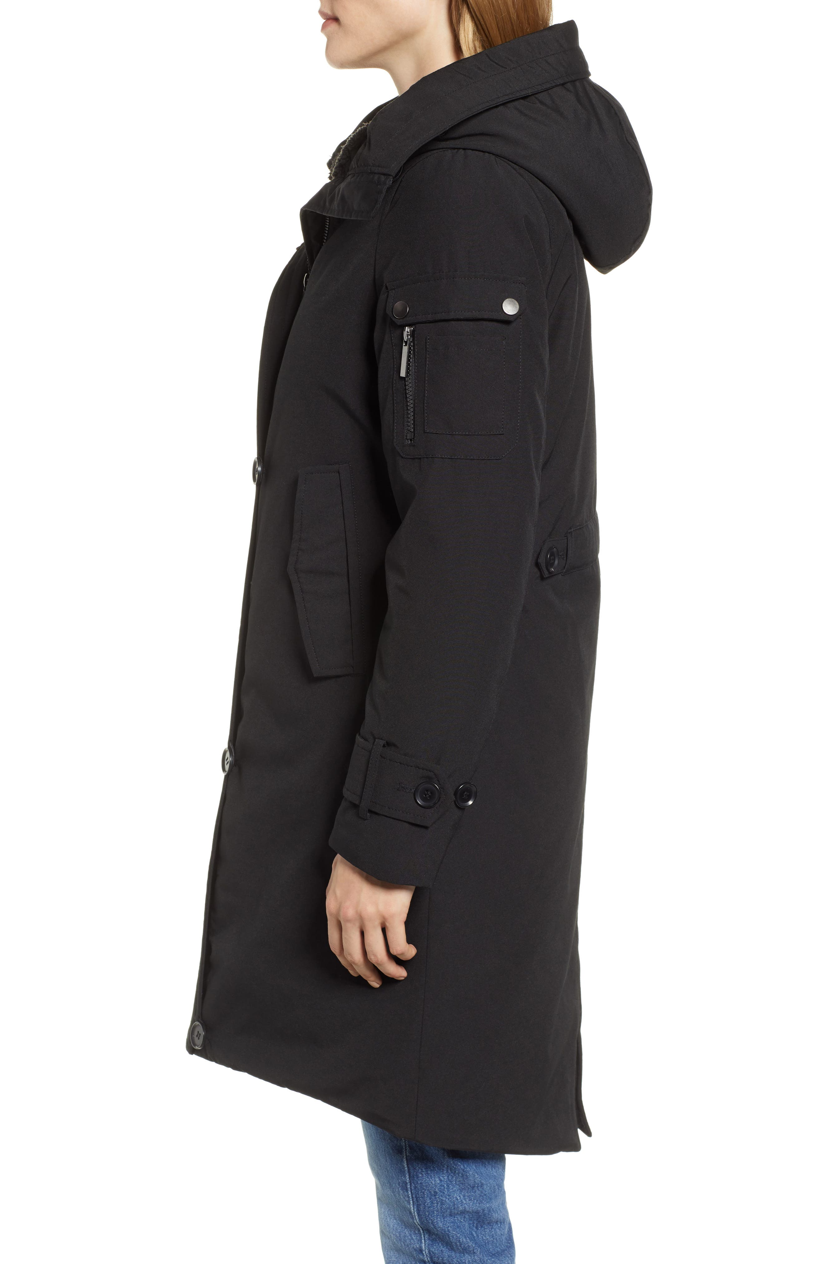 Heavyweight Parka,                             Alternate thumbnail 3, color,                             BLACK