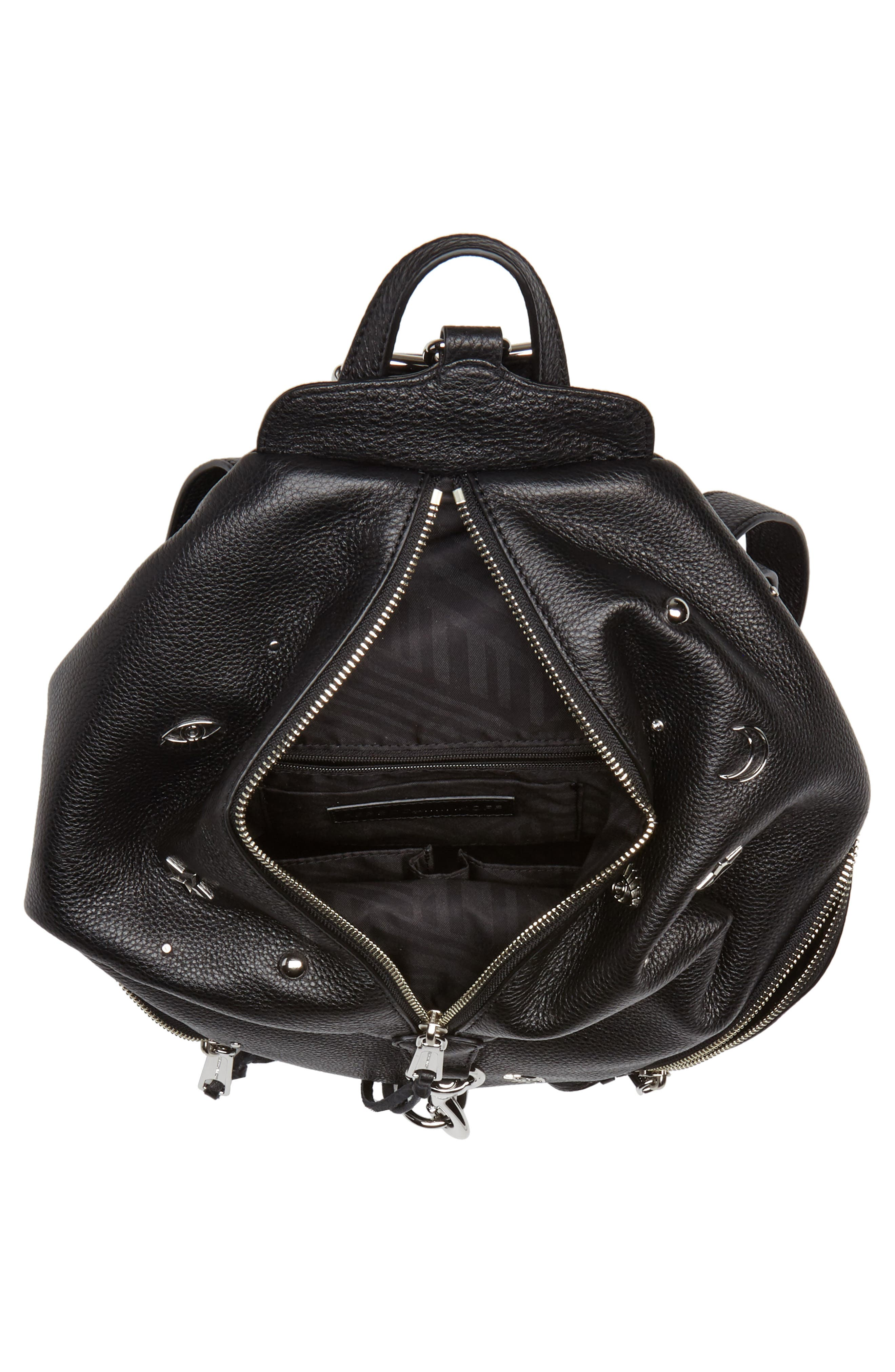 Julian Embellished Leather Backpack,                             Alternate thumbnail 4, color,                             001