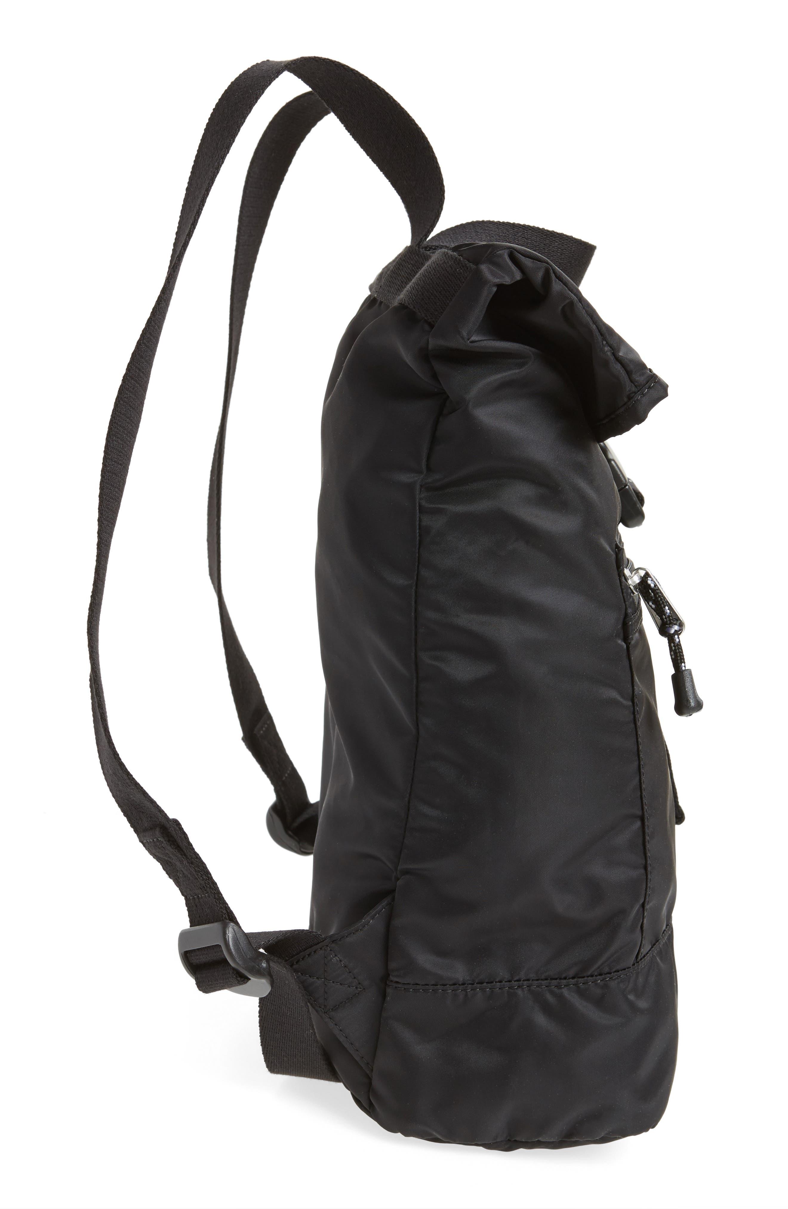 Bond Heights Packable Nylon Backpack,                             Alternate thumbnail 5, color,                             001