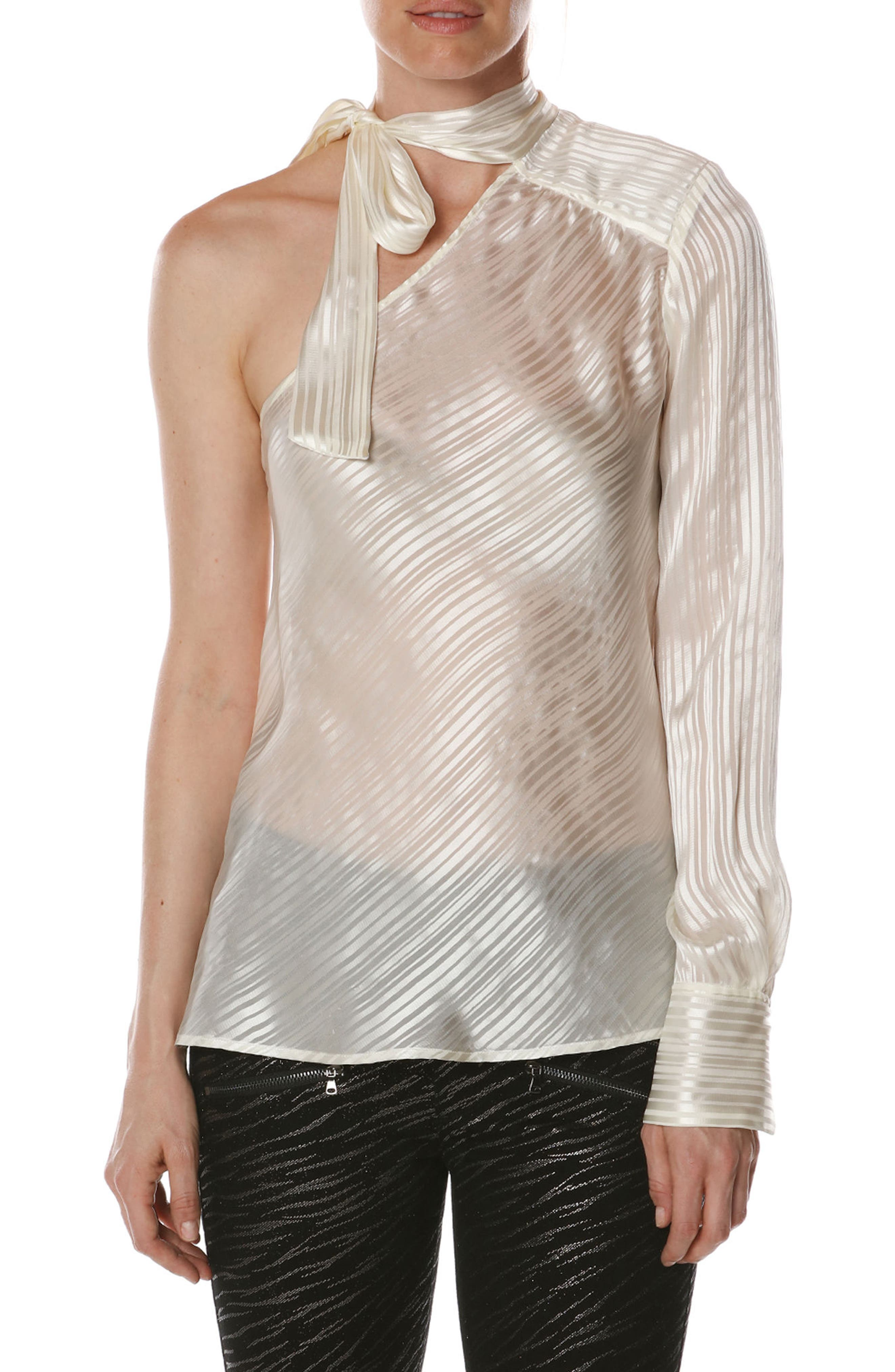 Rosie HW x PAIGE Rona Silk Blouse,                             Alternate thumbnail 8, color,