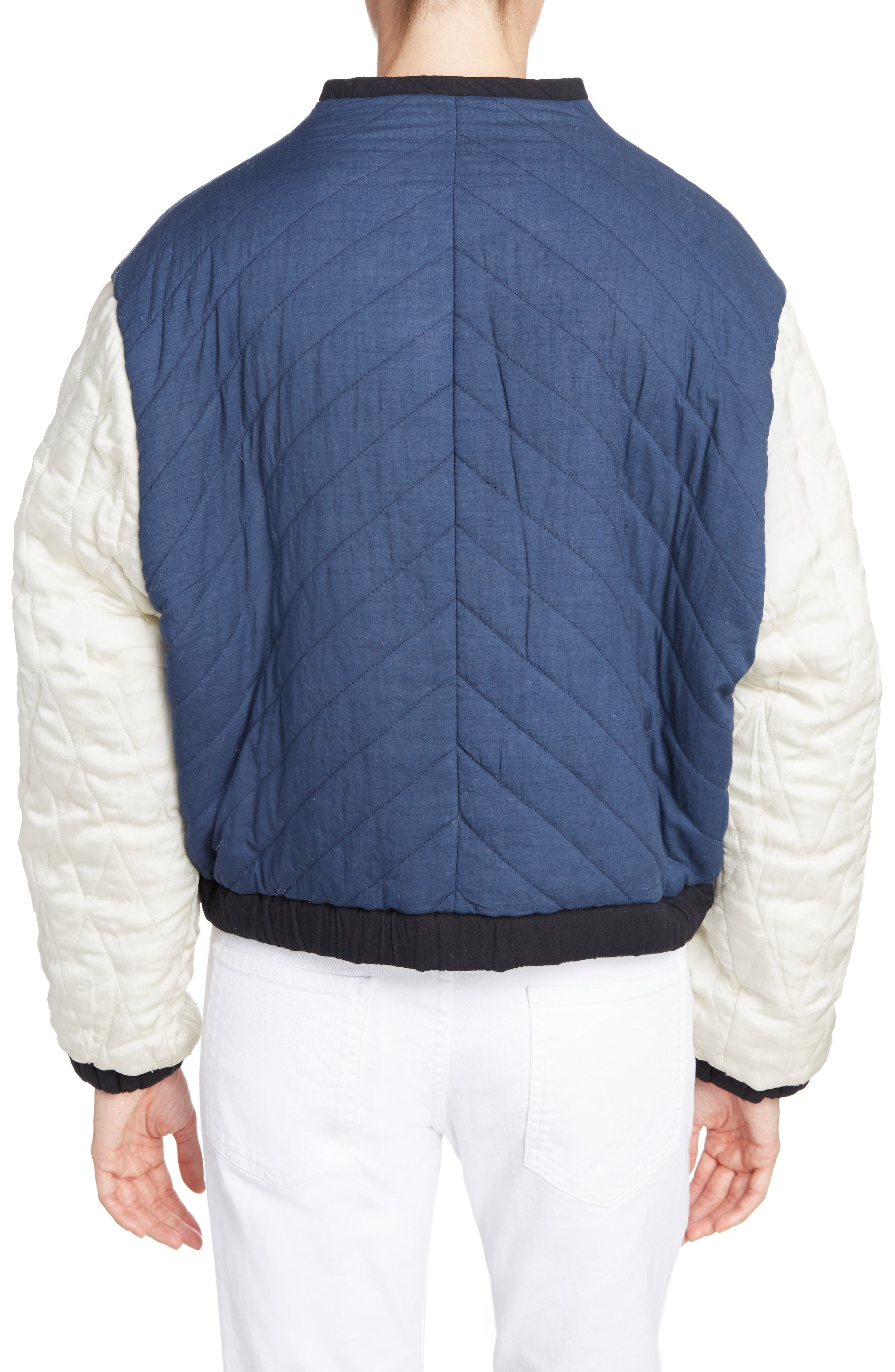 Isabel Marant Étoile Hanae Quilted Bomber,                             Alternate thumbnail 2, color,                             400