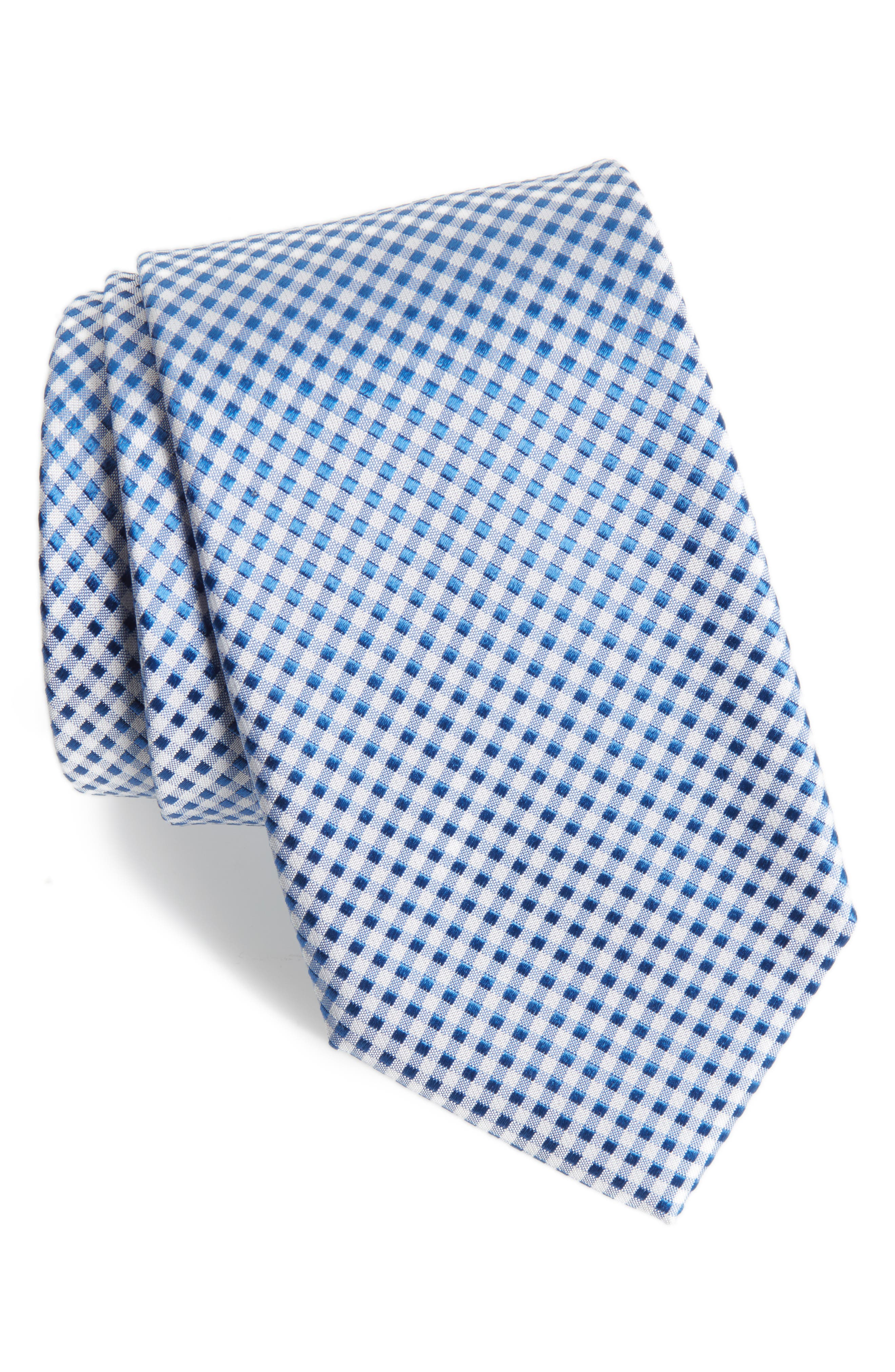 Grid Silk Tie,                             Main thumbnail 1, color,