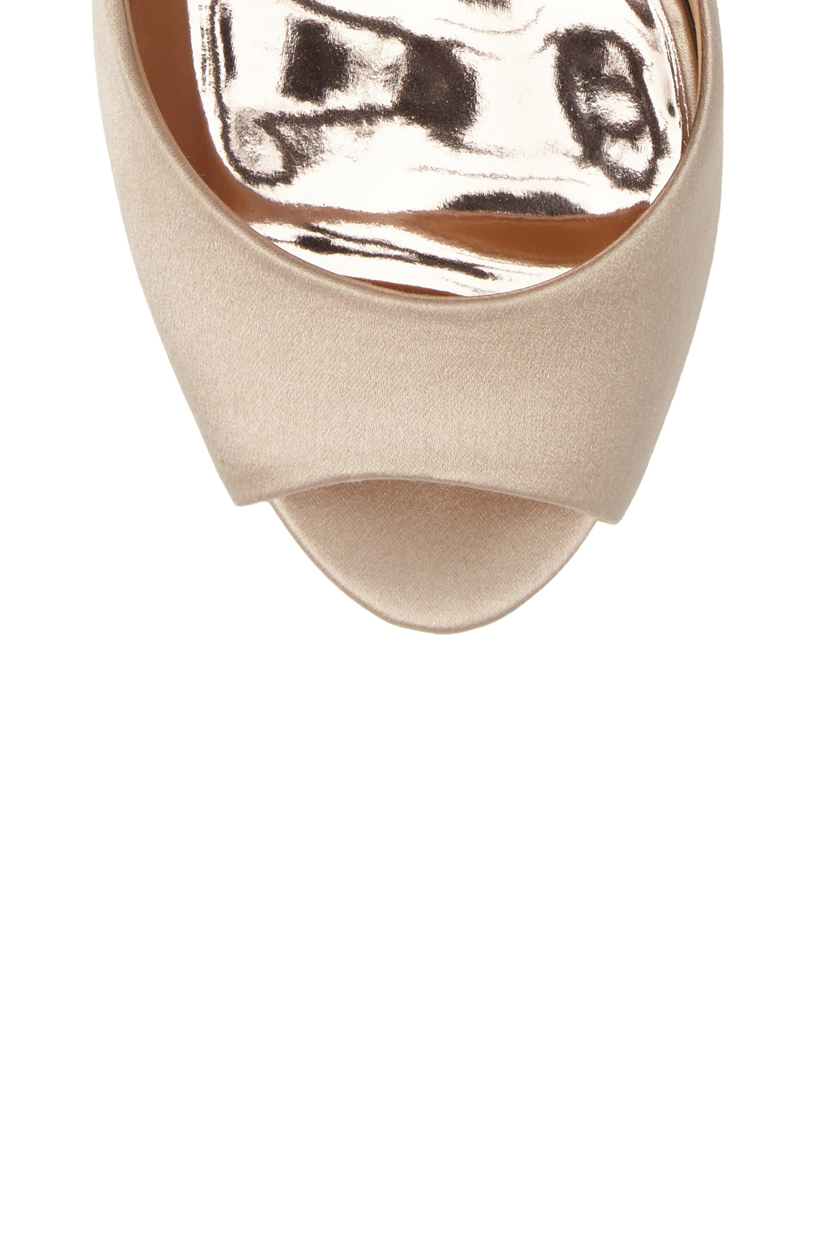 Badgley Micshka Karson Embellished Peep Toe Pump,                             Alternate thumbnail 14, color,