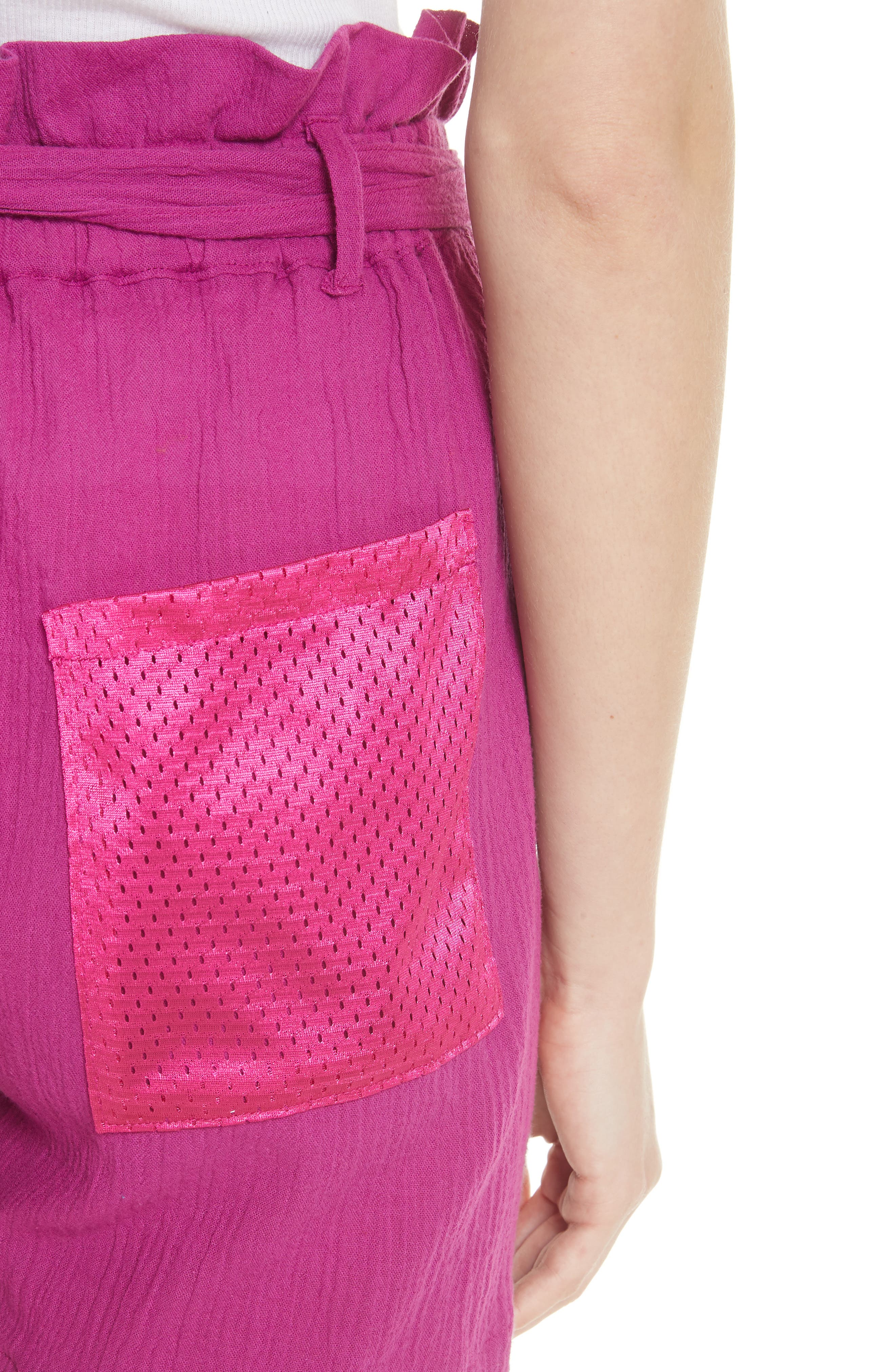Island Mesh Pocket Shorts,                             Alternate thumbnail 5, color,                             MAGENTA