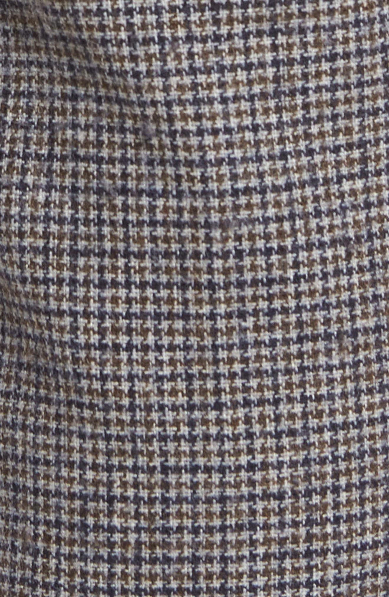 Houndstooth Trousers,                             Alternate thumbnail 5, color,                             DARK GREY