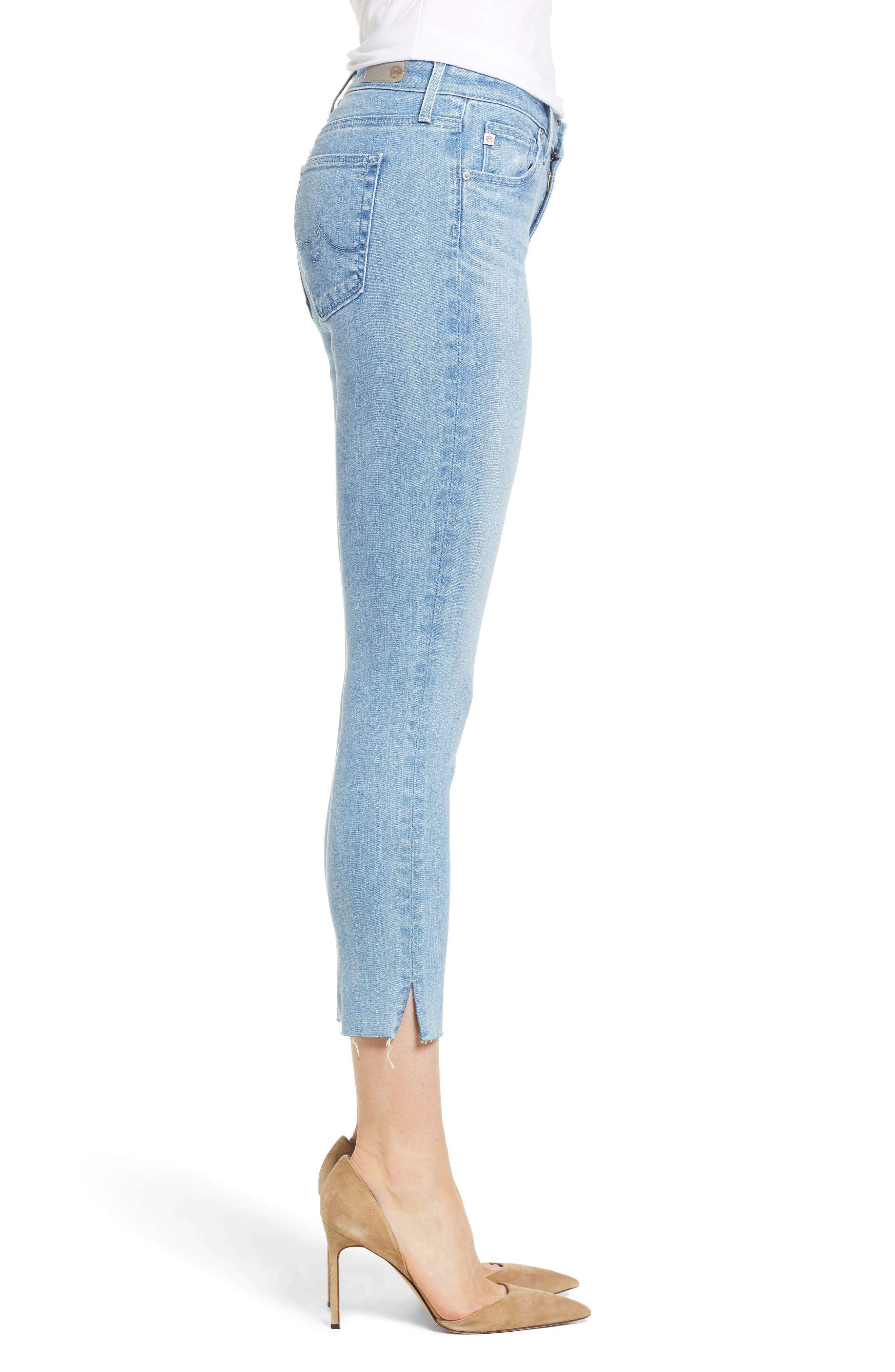 Prima Crop Skinny Jeans,                             Alternate thumbnail 3, color,                             SINGULARITY