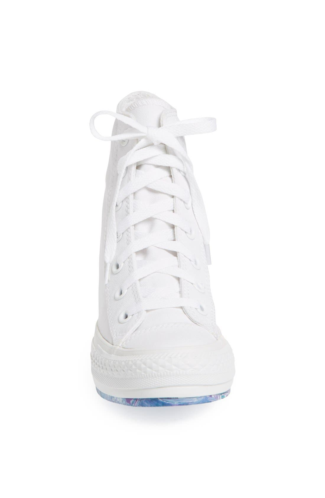 Chuck Taylor<sup>®</sup> All Star<sup>®</sup> 'Platform Plus' Hidden Wedge High-Top Sneaker,                             Alternate thumbnail 2, color,                             100