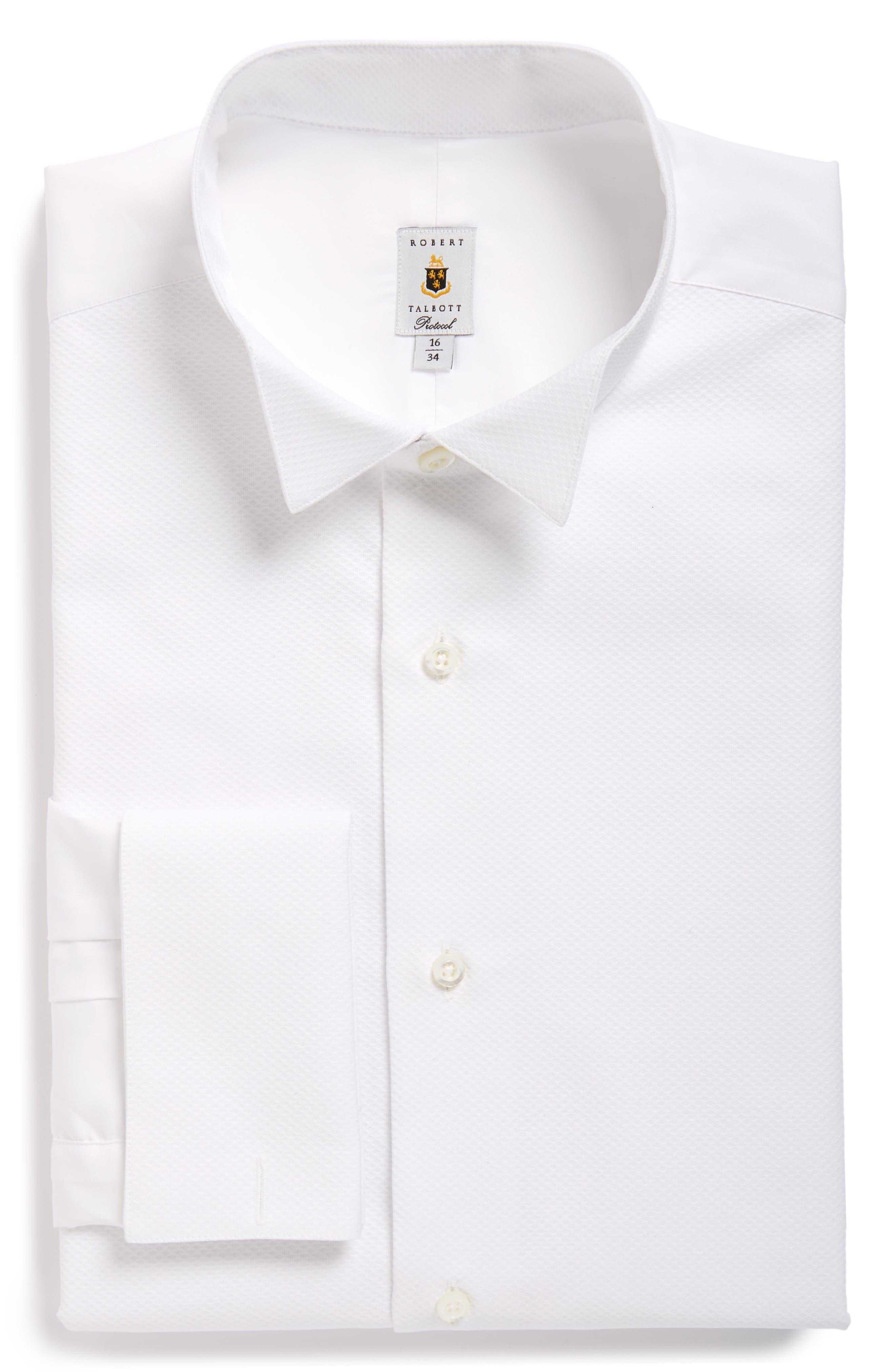 Bib Front Tuxedo Shirt,                             Alternate thumbnail 3, color,                             110