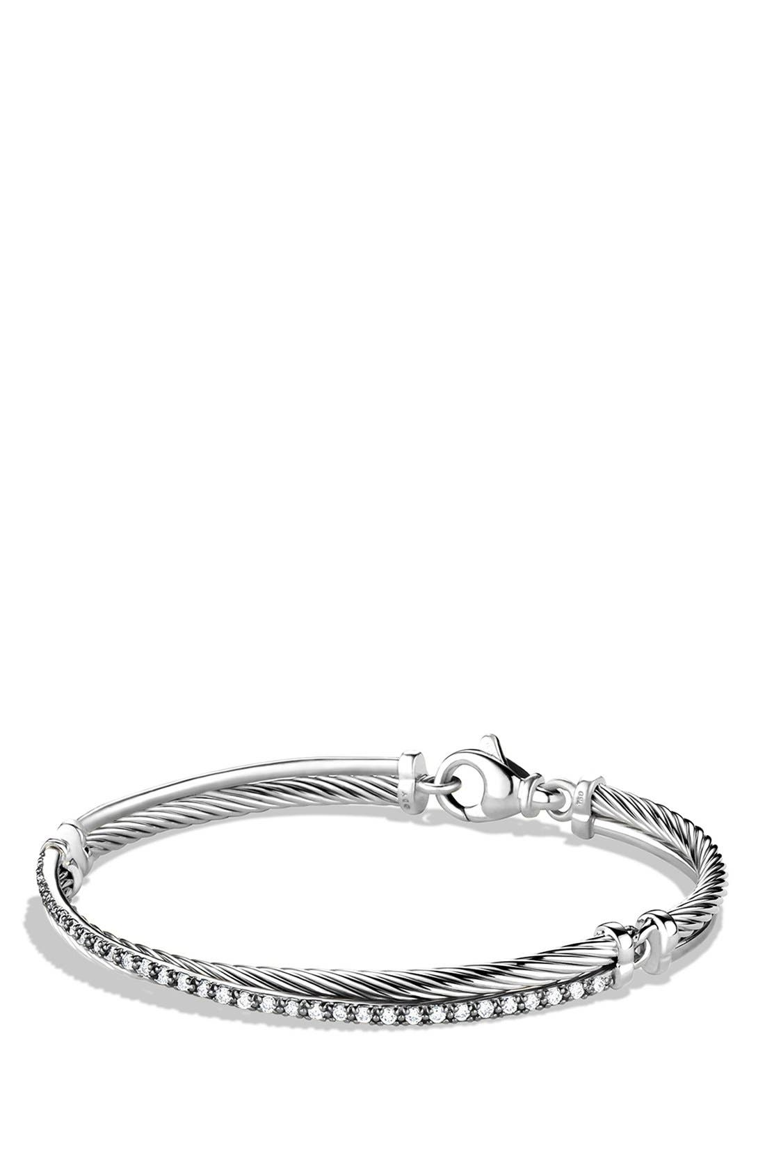 'Crossover' Bracelet with Diamonds,                         Main,                         color, DIAMOND