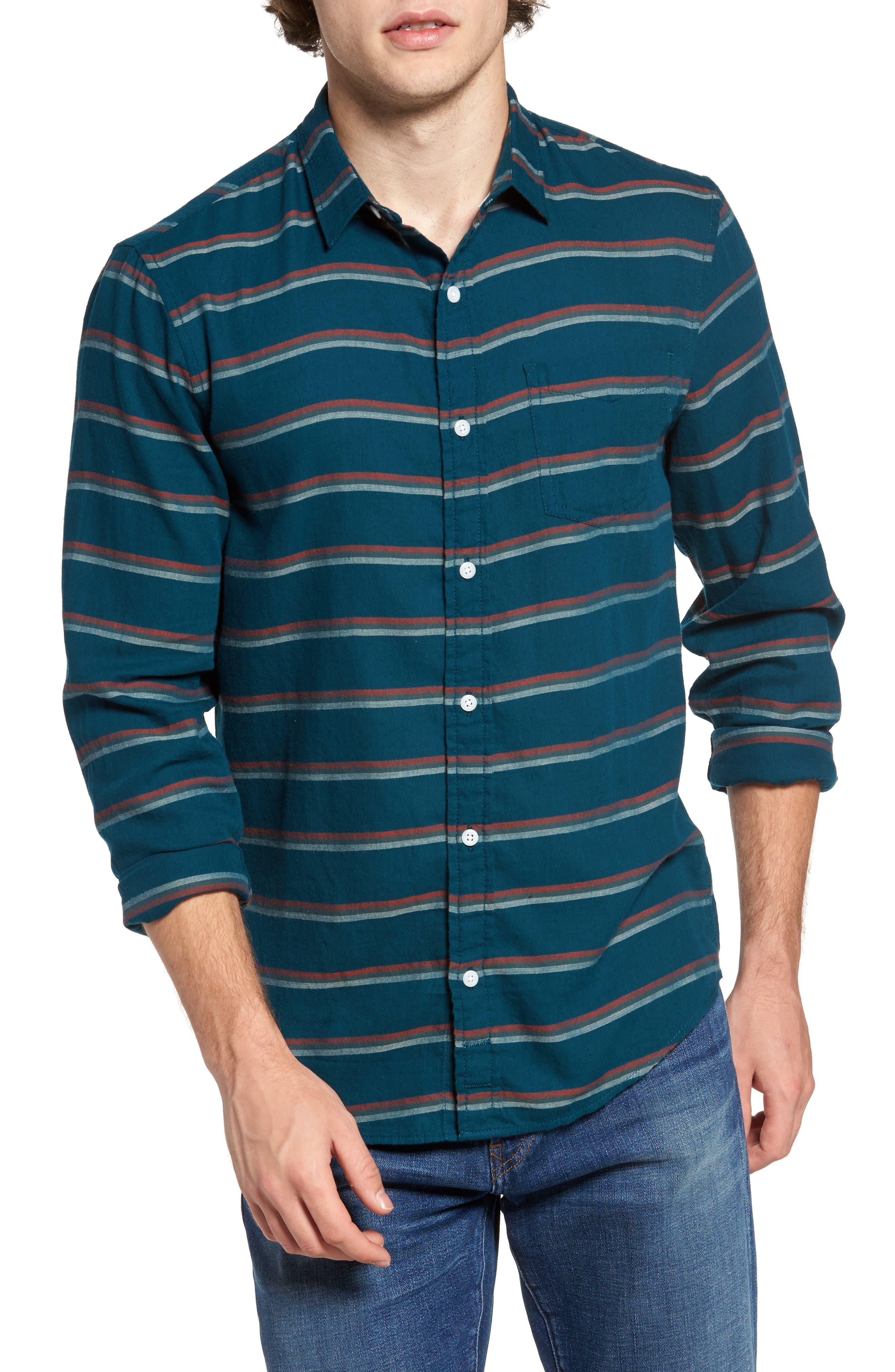 Stripe Twill Shirt,                             Main thumbnail 2, color,