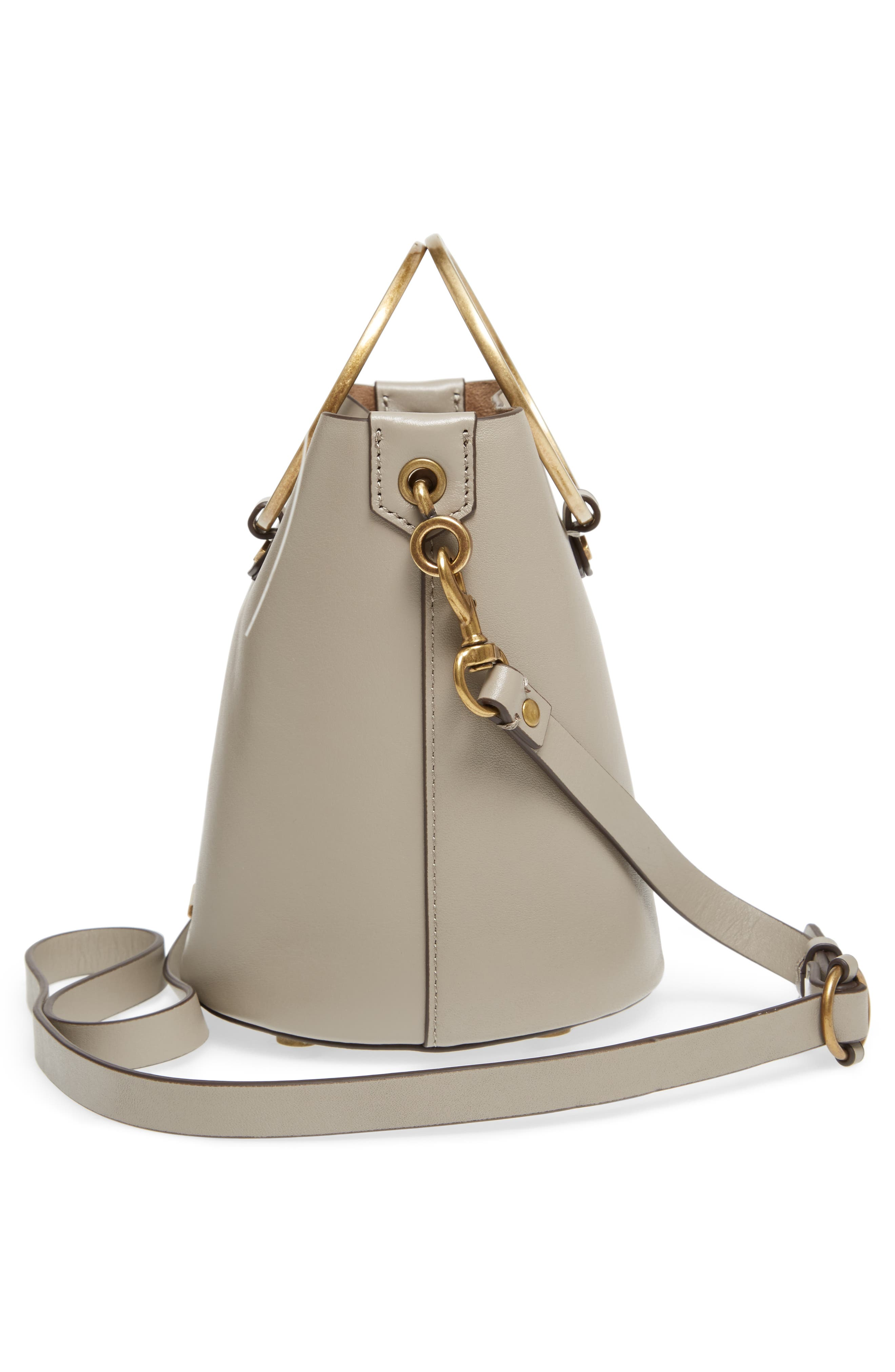 Ring Leather Bucket Bag,                             Alternate thumbnail 10, color,