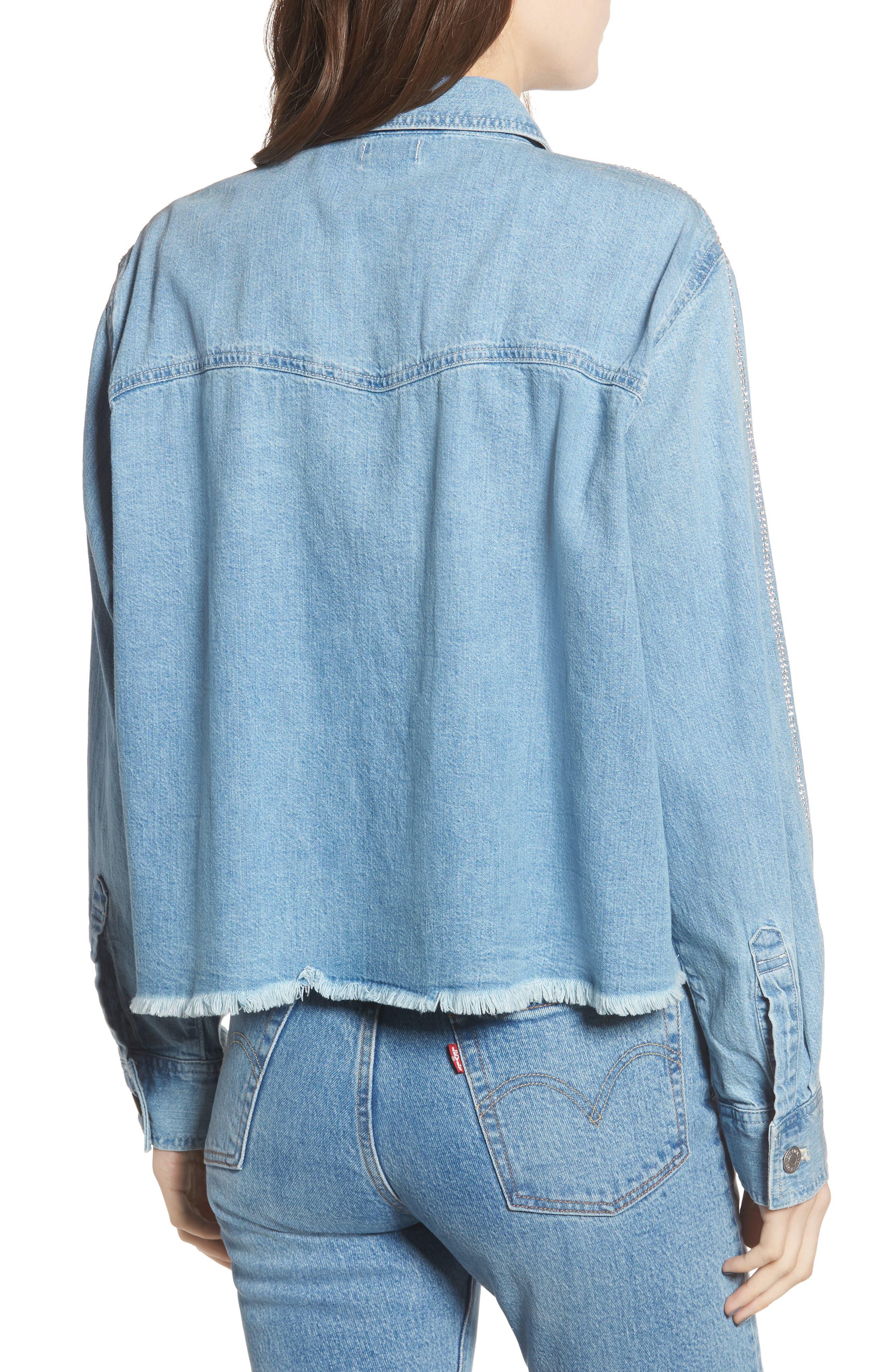 LEVI'S<SUP>®</SUP>,                             Addison Crop Denim Shirt,                             Alternate thumbnail 2, color,                             400