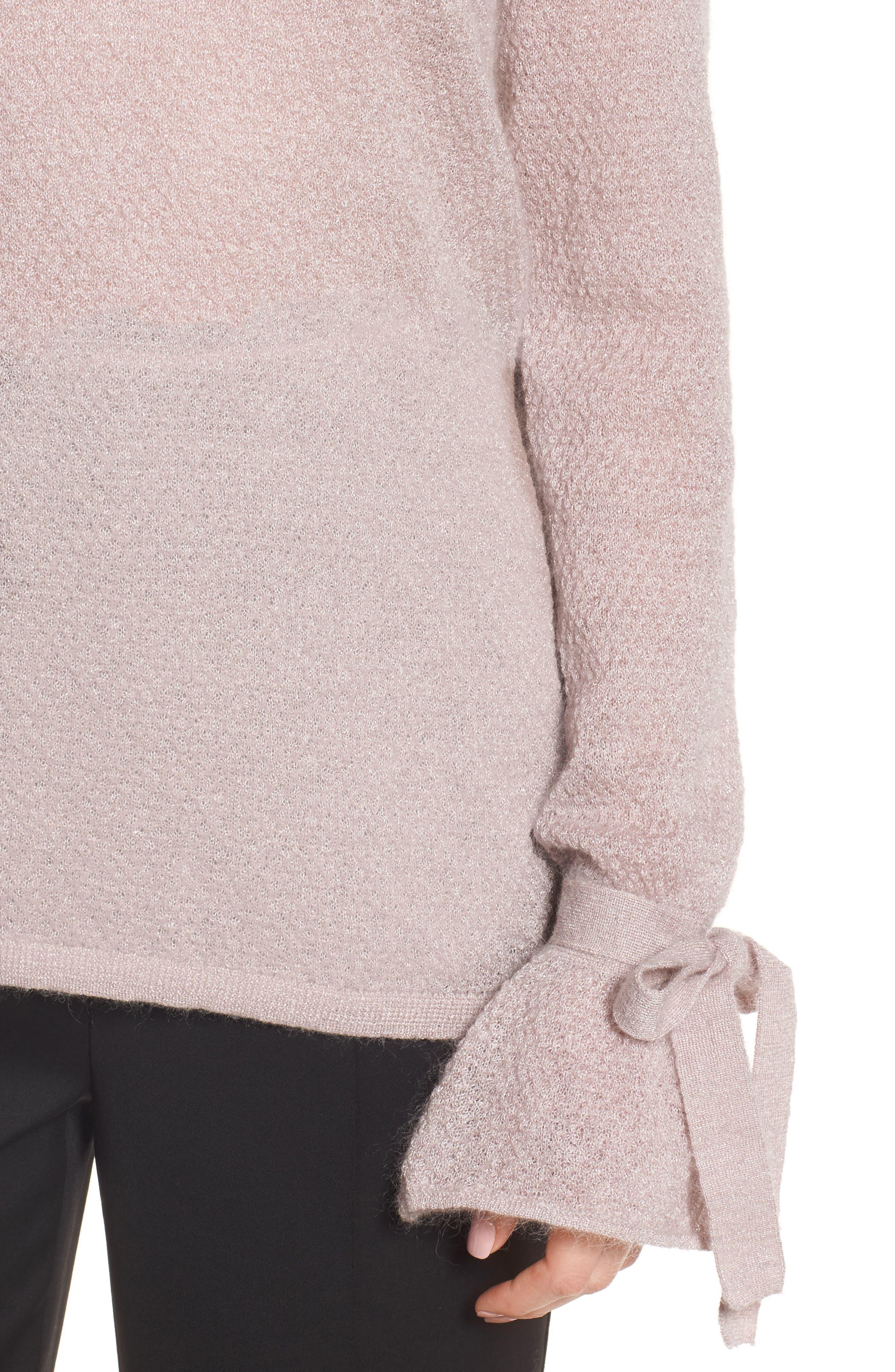 Metallic Mohair Blend Sweater,                             Alternate thumbnail 7, color,