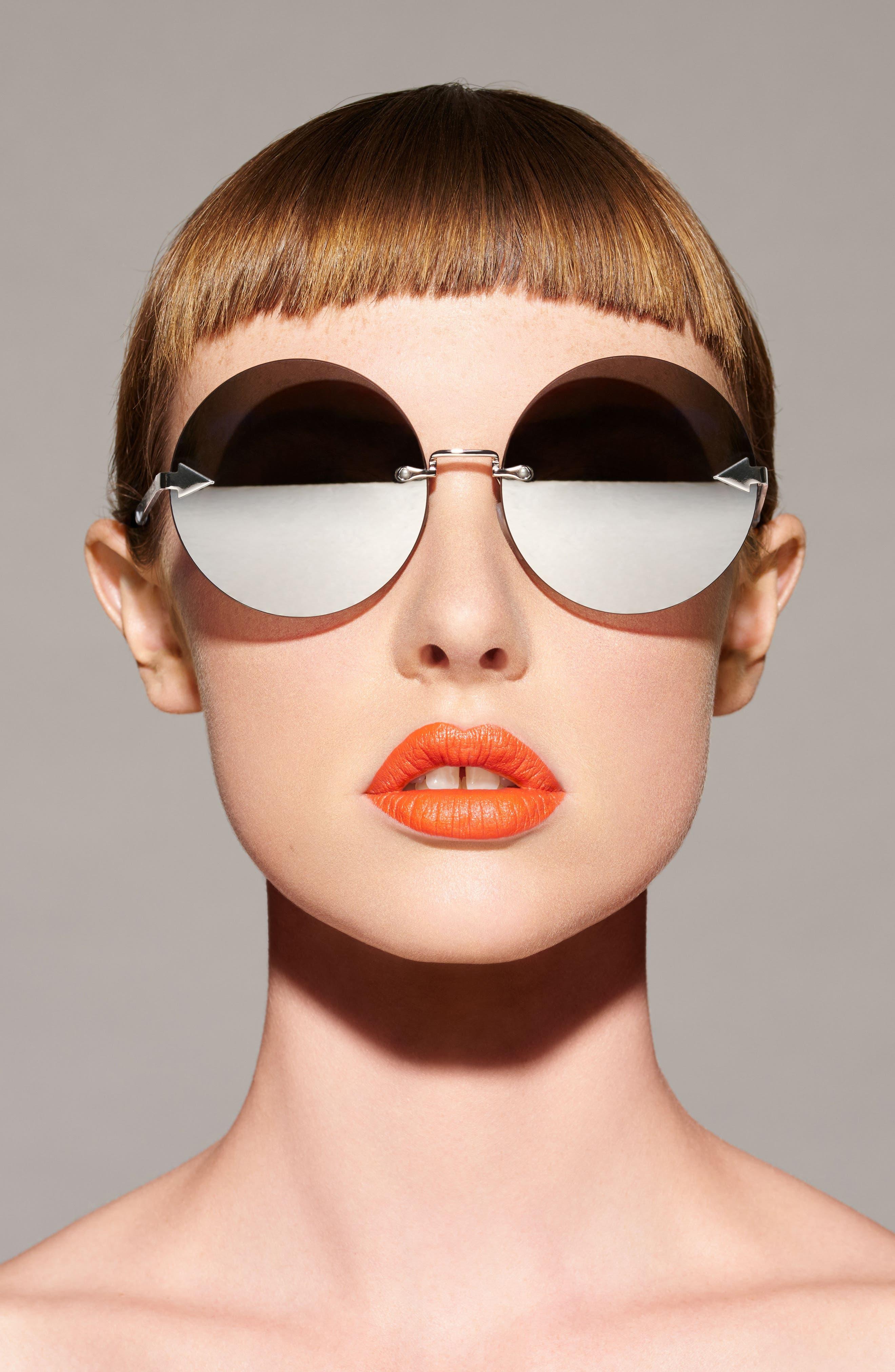 Disco Circus 60mm Rimless Round Sunglasses,                             Alternate thumbnail 9, color,