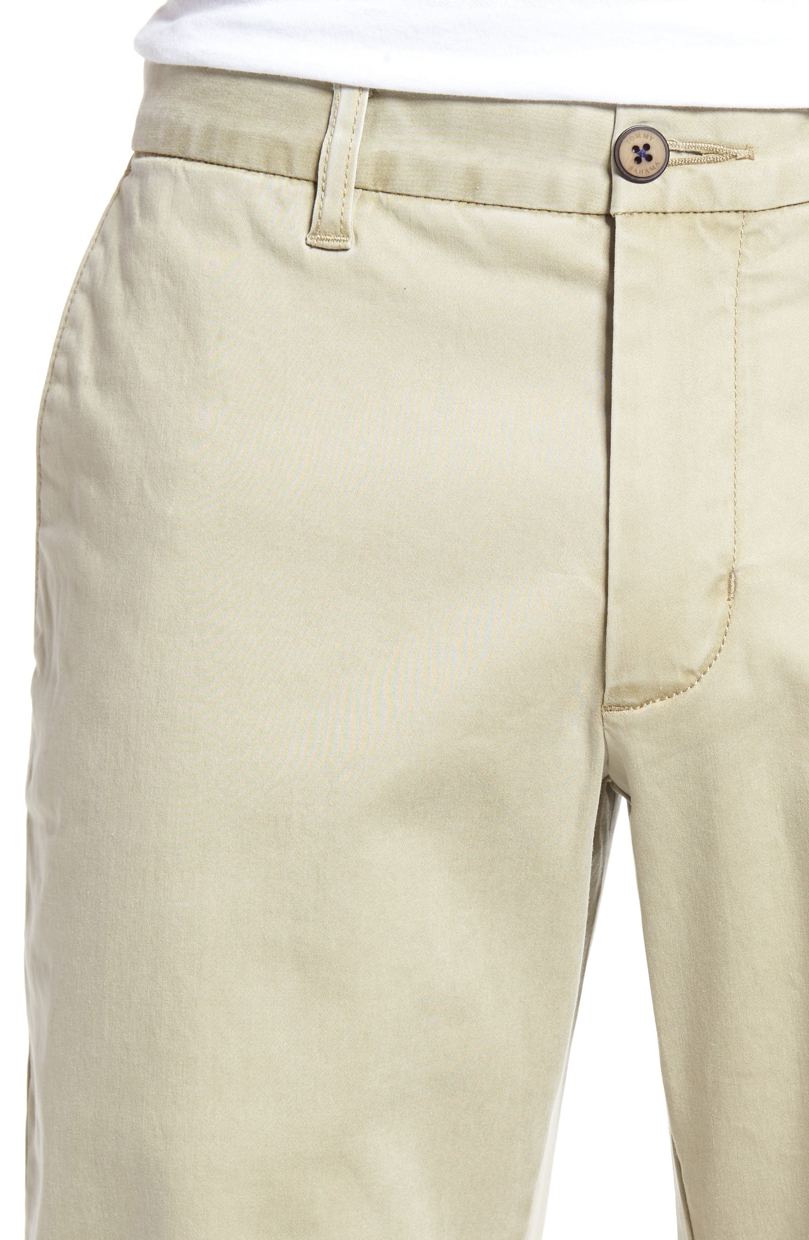 Boracay Flat Front Pants,                             Alternate thumbnail 4, color,                             KHAKI