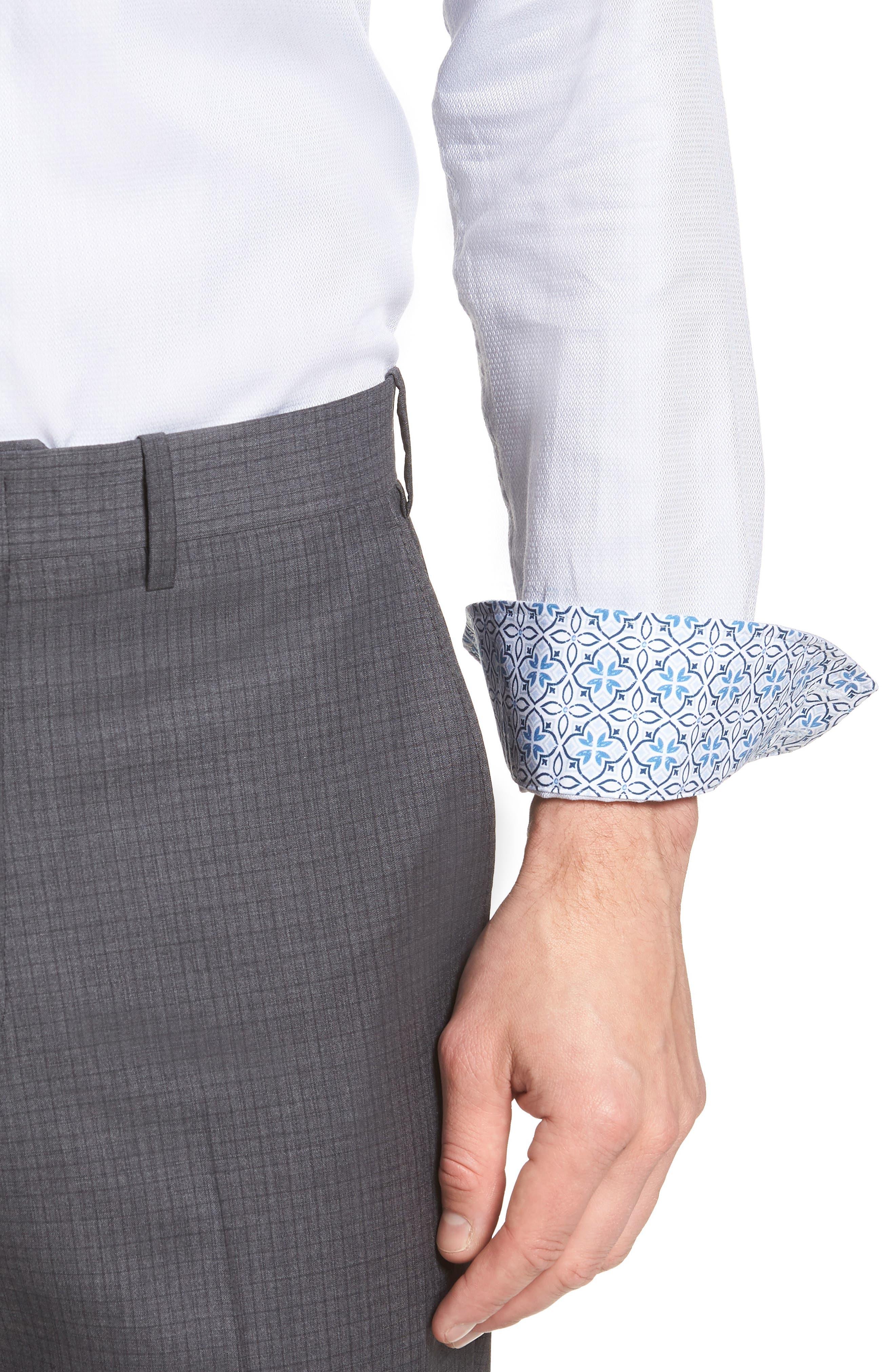 Ollyox Slim Fit Solid Dress Shirt,                             Alternate thumbnail 2, color,                             GREY
