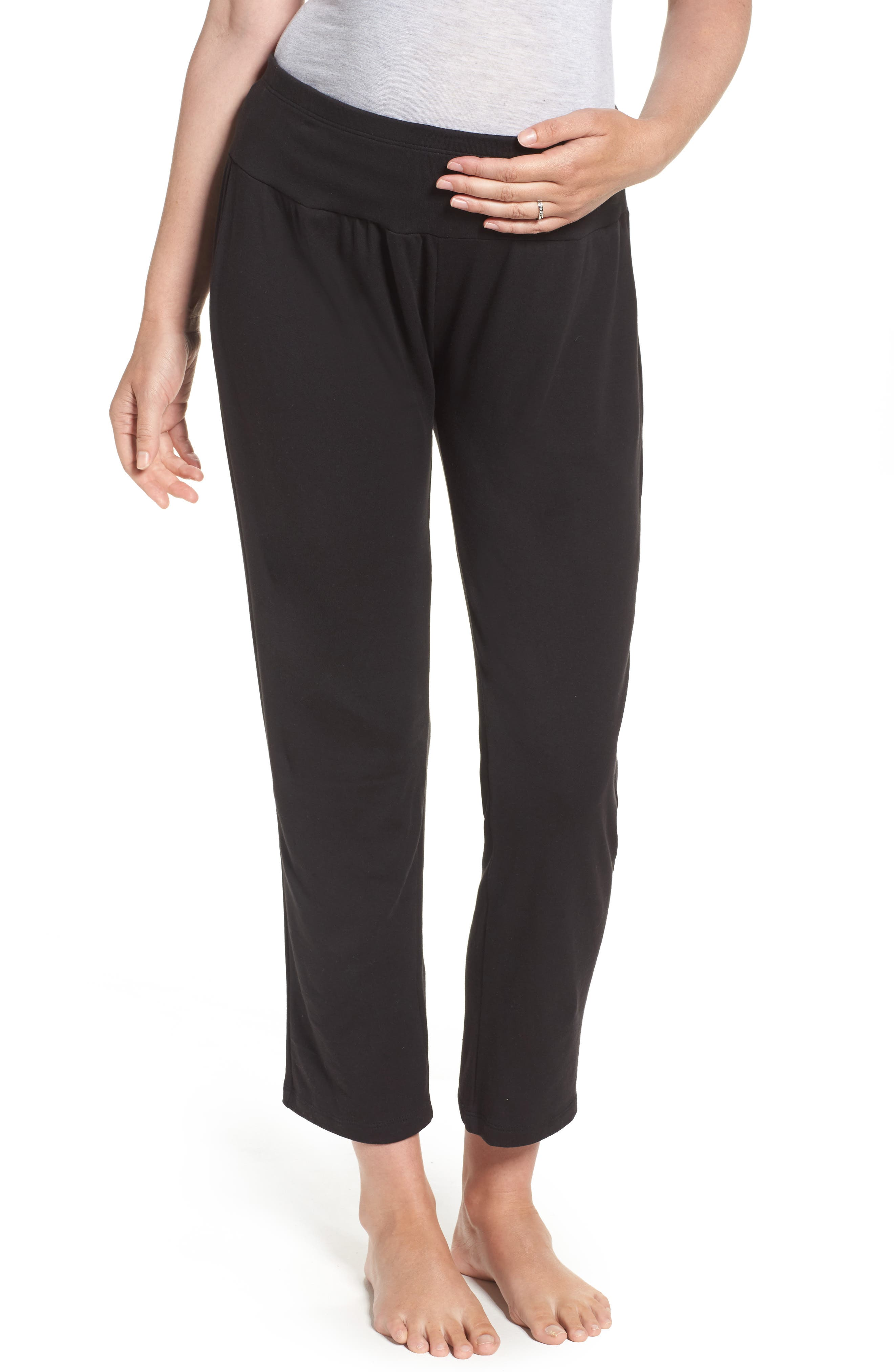 New Mama Relaxed Fit Pants,                         Main,                         color, 001