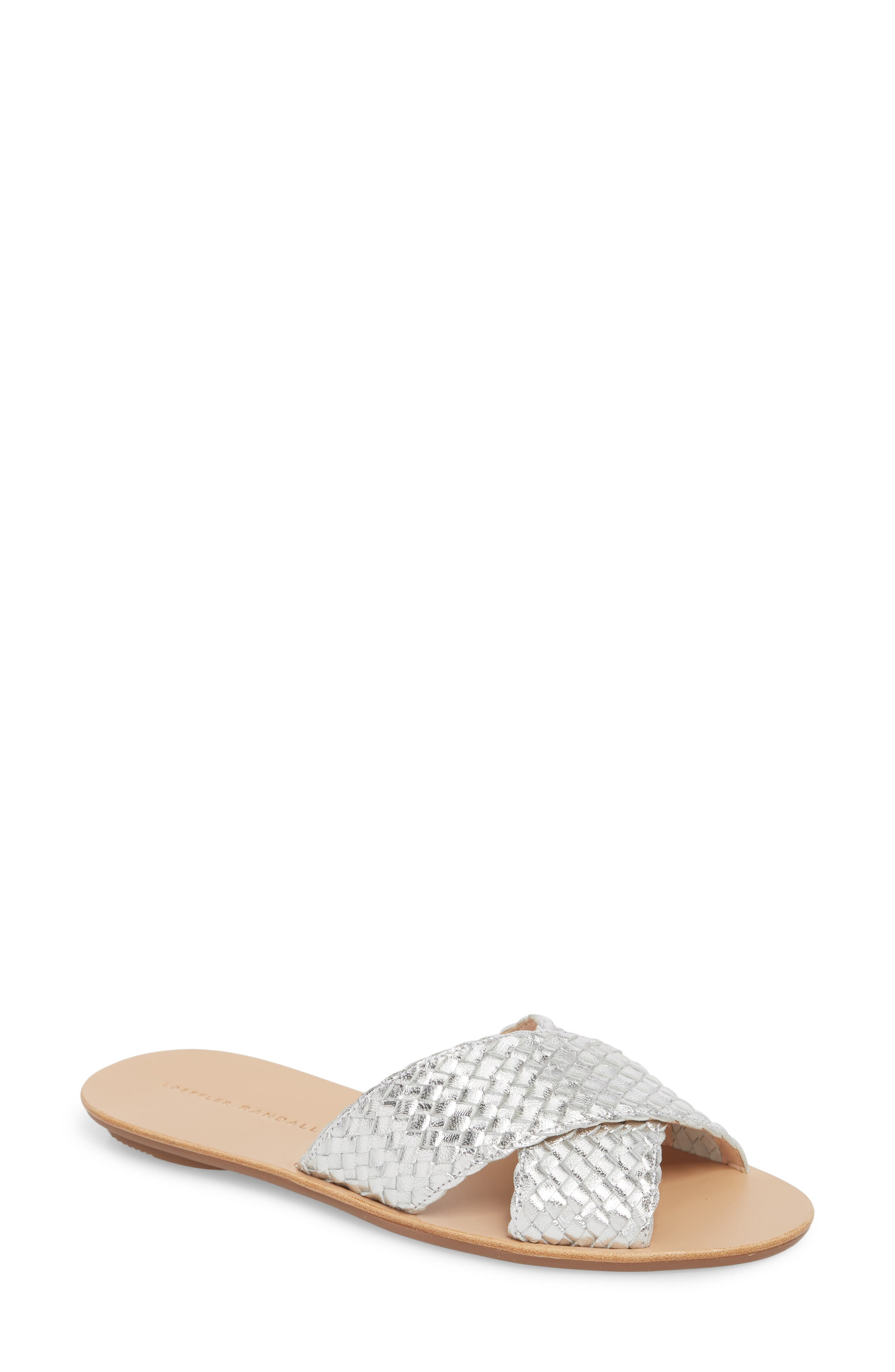 Claudie Slide Sandal,                         Main,                         color, SILVER