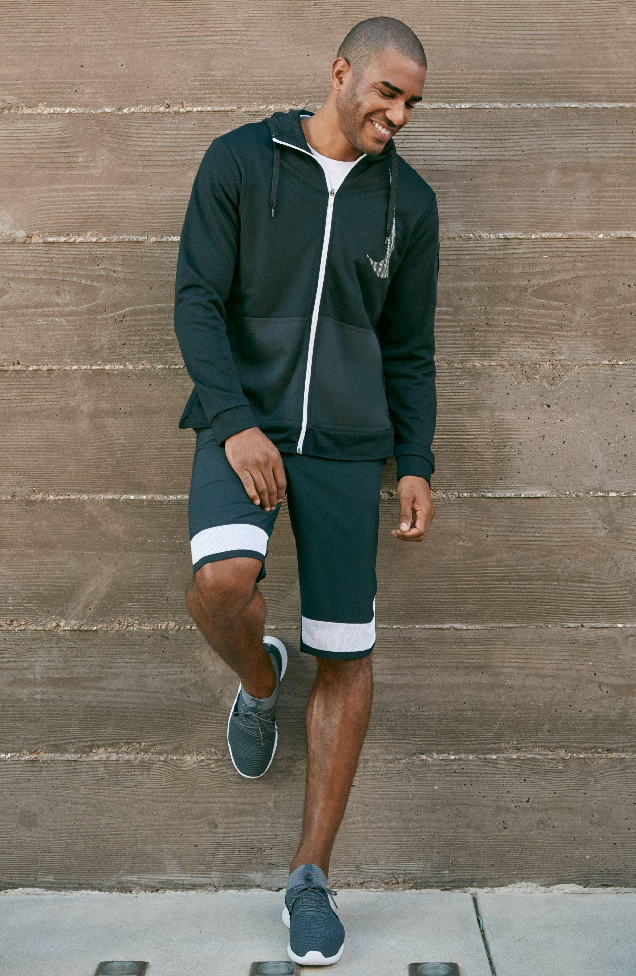 Training Flex PX Shorts,                             Alternate thumbnail 7, color,                             BLACK/ WHITE/ WHITE