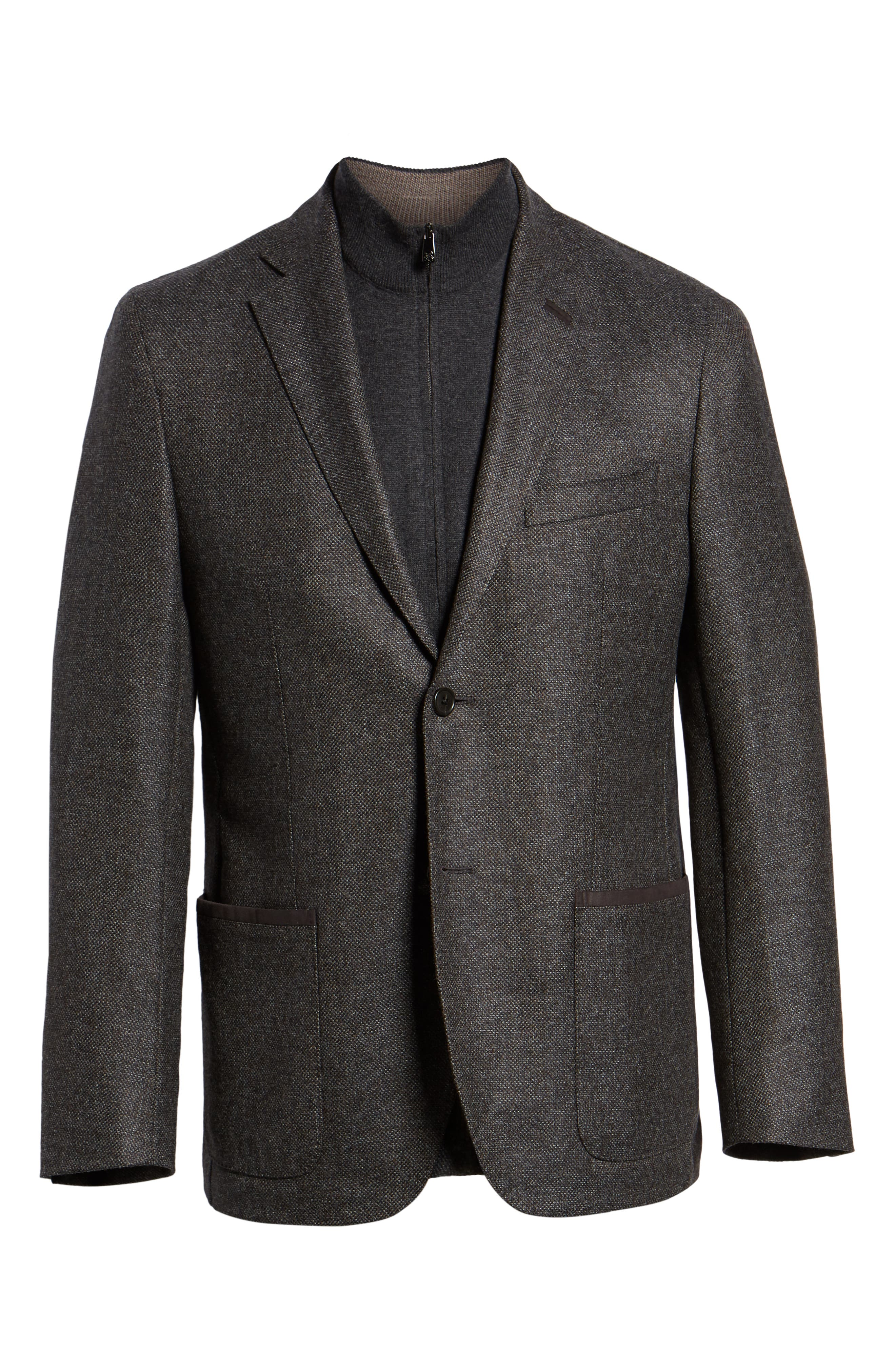 Classic Fit Stretch Tweed Wool Blend Sport Coat,                             Alternate thumbnail 5, color,                             GREY