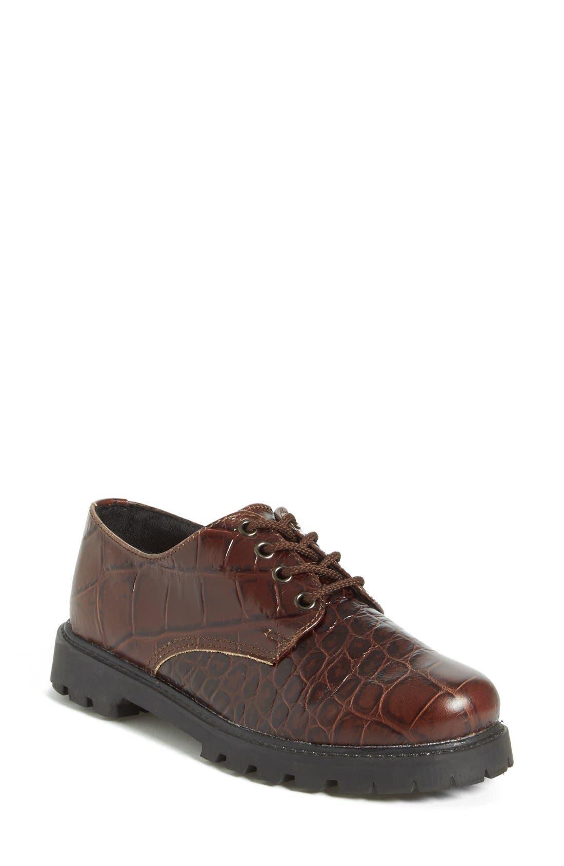 'School Shoe' Lace-Up Oxford,                             Main thumbnail 1, color,                             210