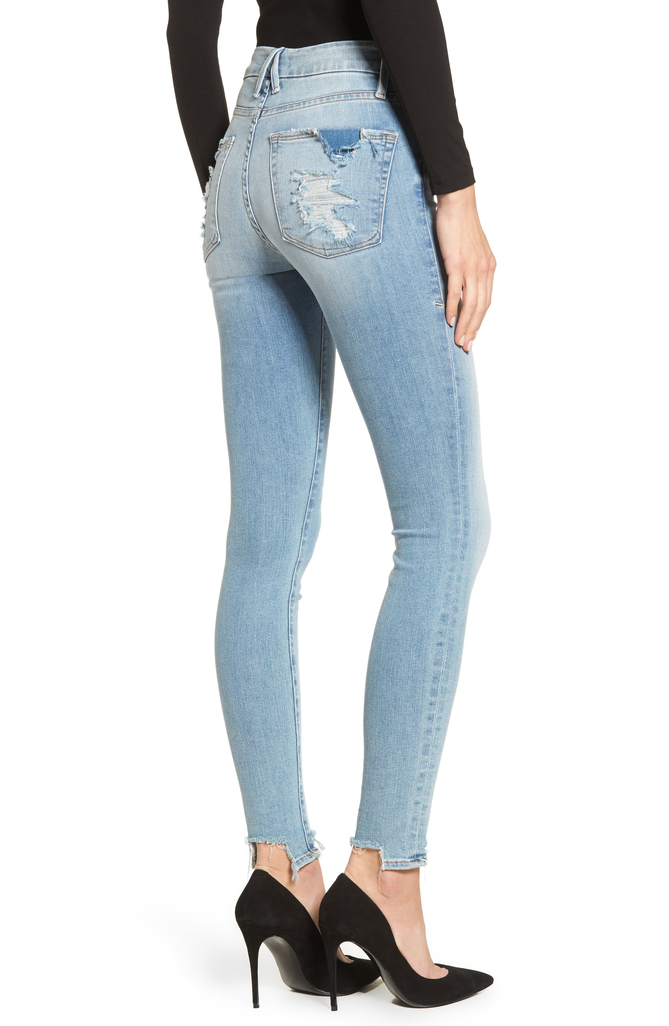 Good Legs High Waist Ankle Skinny Jeans,                             Alternate thumbnail 2, color,