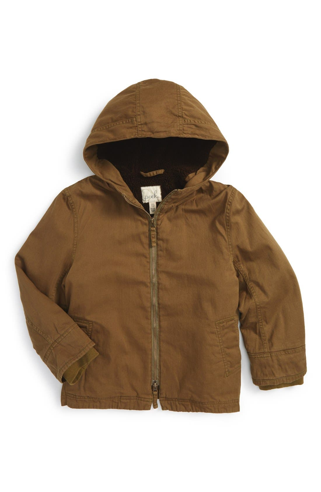 Peek Twill HoodedSnorkel Jacket,                             Main thumbnail 1, color,                             305