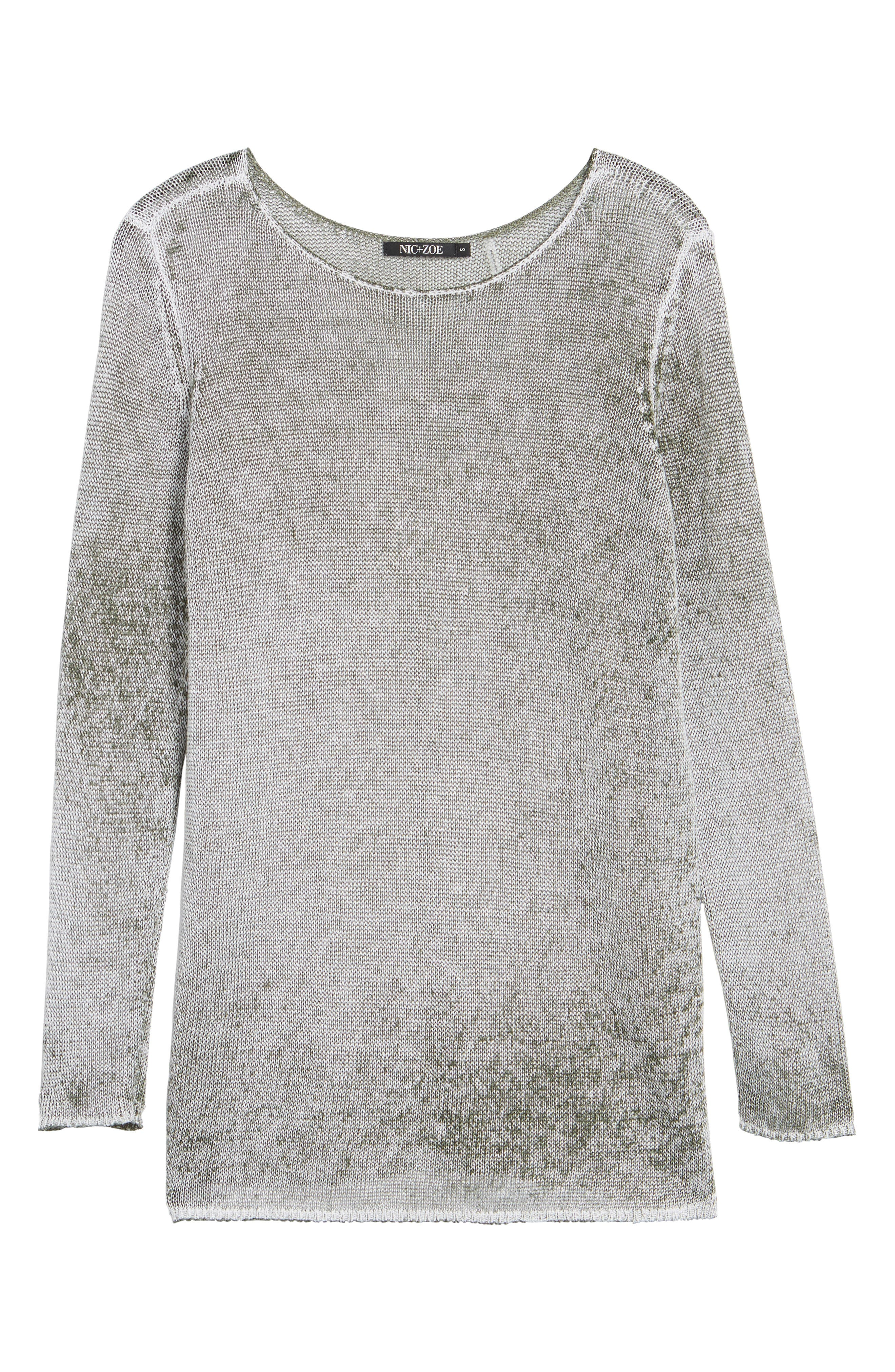 NIC + ZOE Poolside Linen Blend Sweater,                             Alternate thumbnail 22, color,