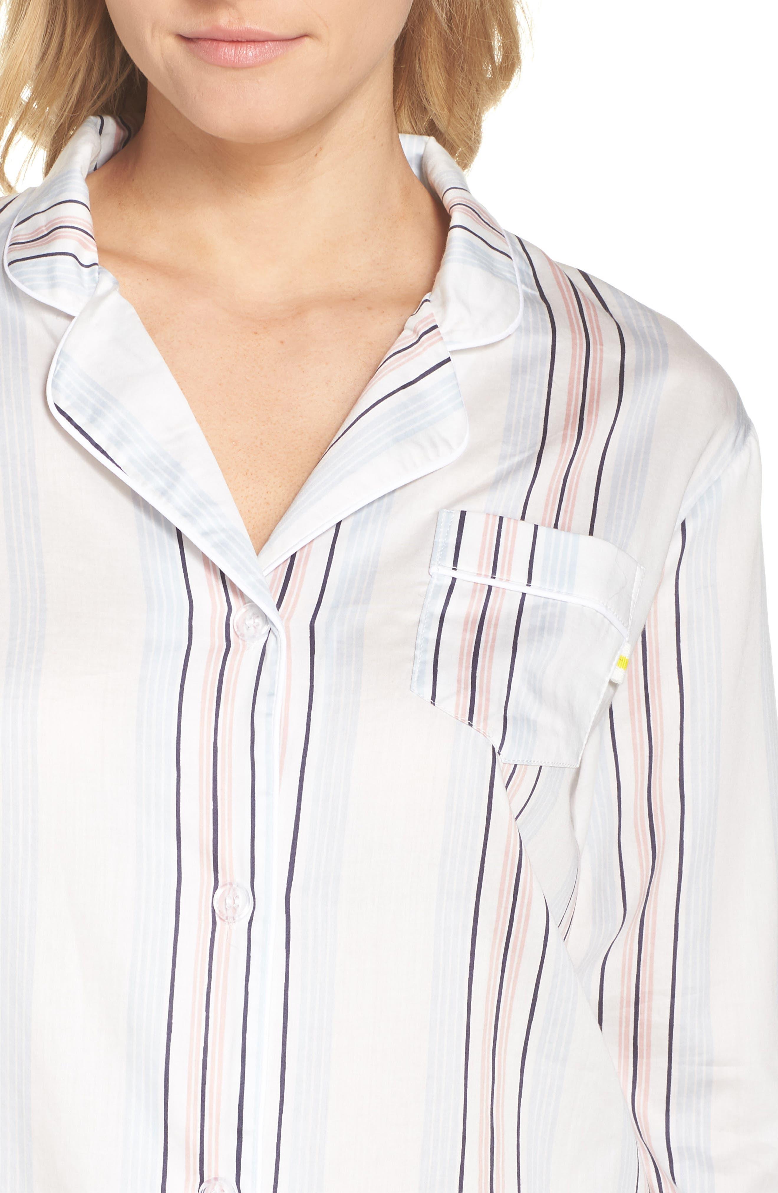 Candy Stripe Short Pajamas,                             Alternate thumbnail 4, color,                             110