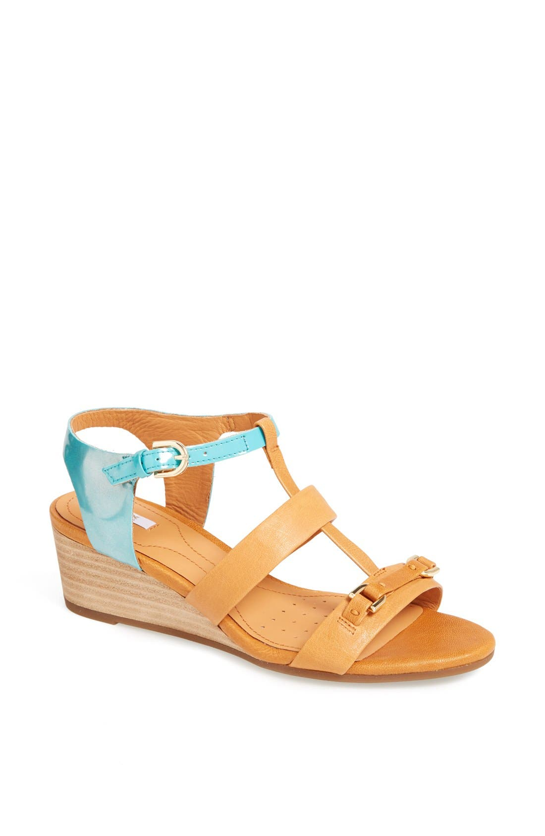 GEOX 'Lupe' Leather Sandal, Main, color, 258
