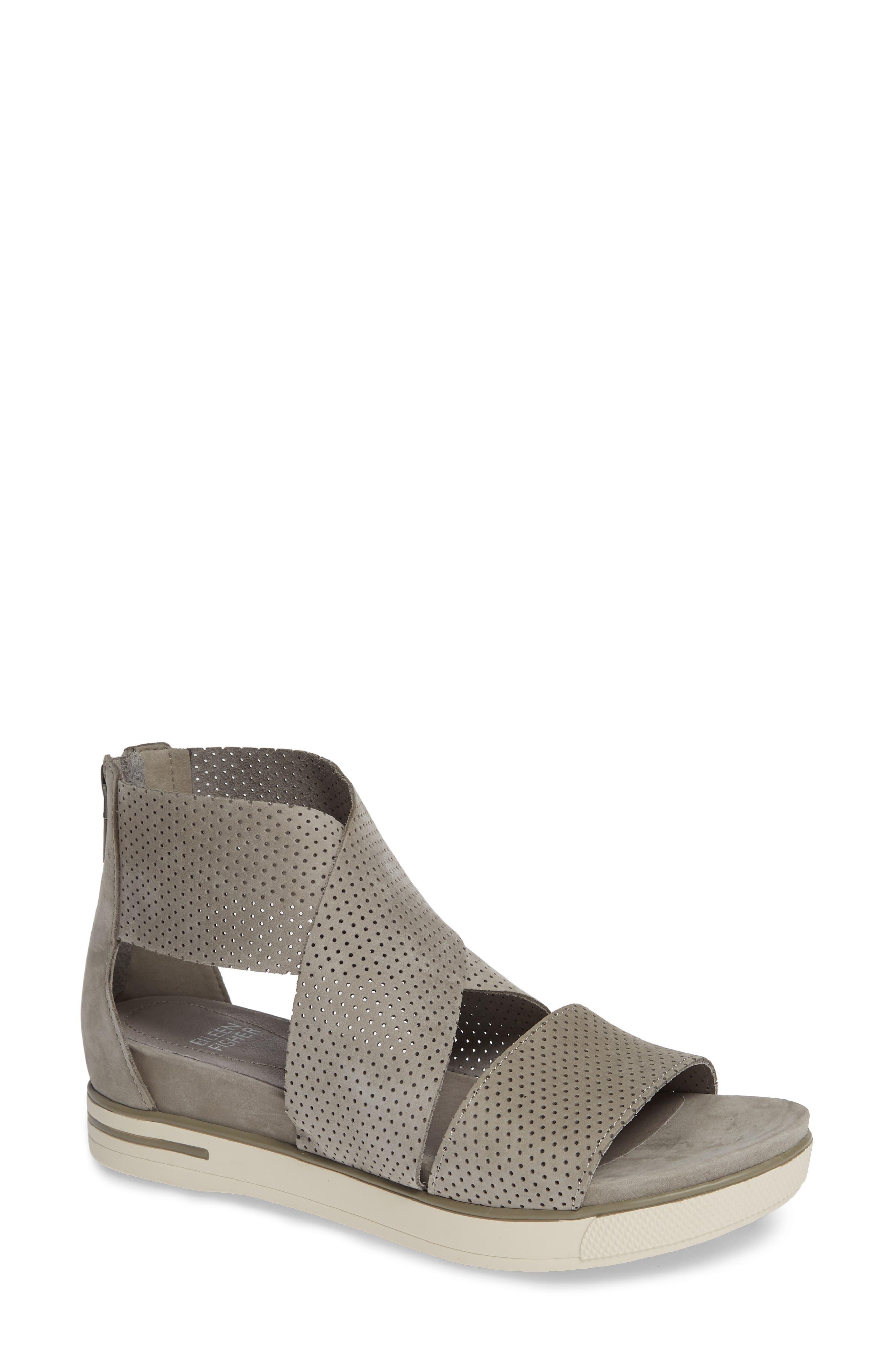 Sport Platform Sandal,                         Main,                         color, MOON/ MOON NUBUCK