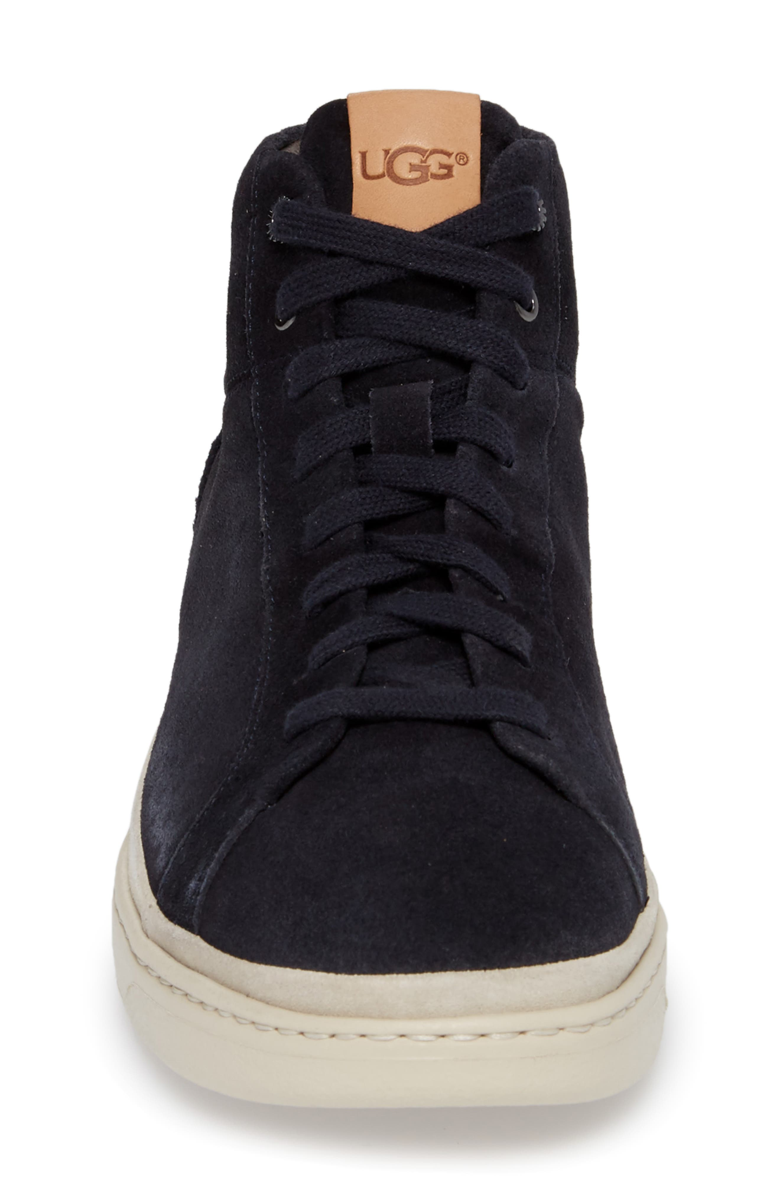 Cali High Top Sneaker,                             Alternate thumbnail 4, color,                             NAVY LEATHER