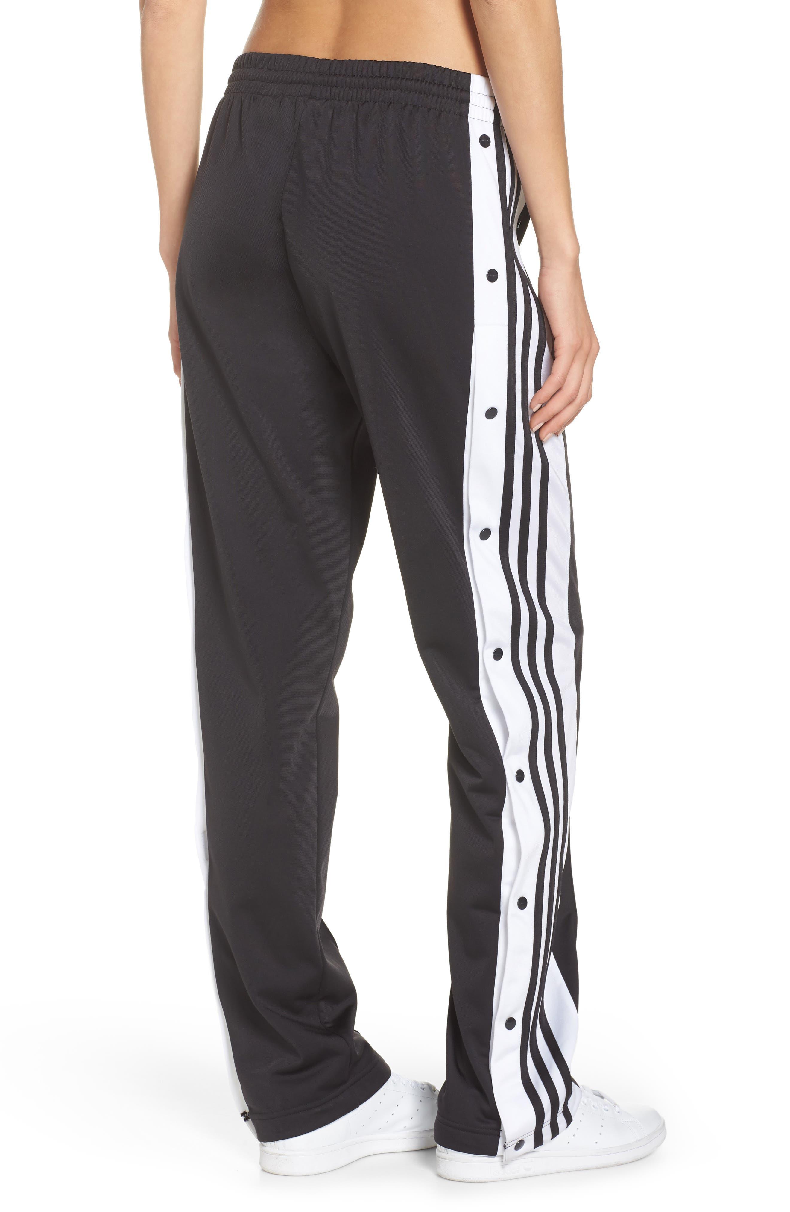 Adibreak Tearaway Track Pants,                             Alternate thumbnail 2, color,                             BLACK/ CARBON