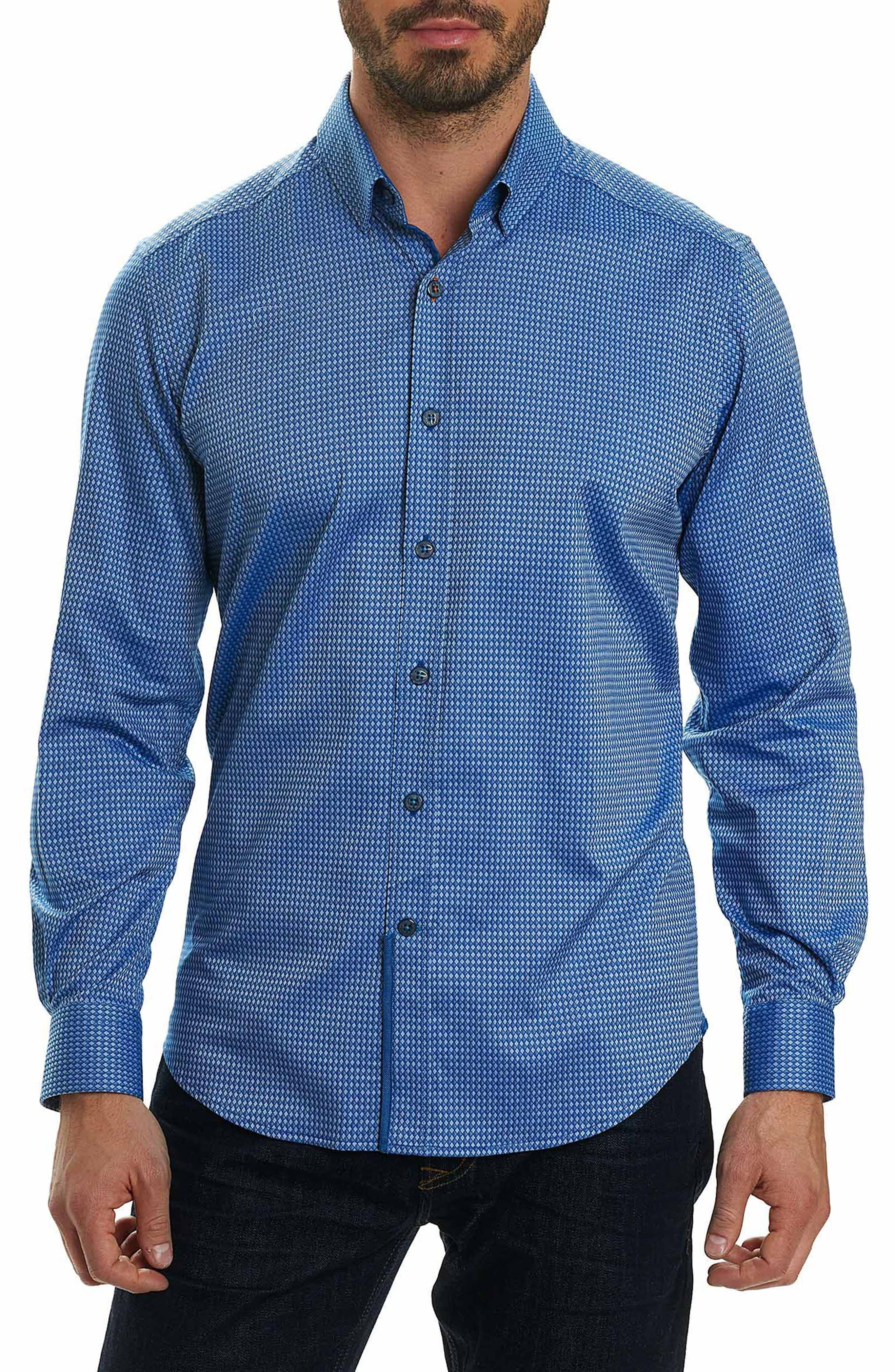 Matthew Tailored Fit Print Sport Shirt,                         Main,                         color, 410