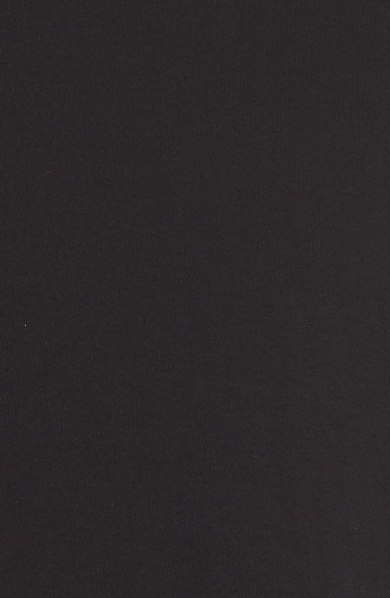 Eyelet Yoke Shift Dress,                             Alternate thumbnail 6, color,                             RICH BLACK