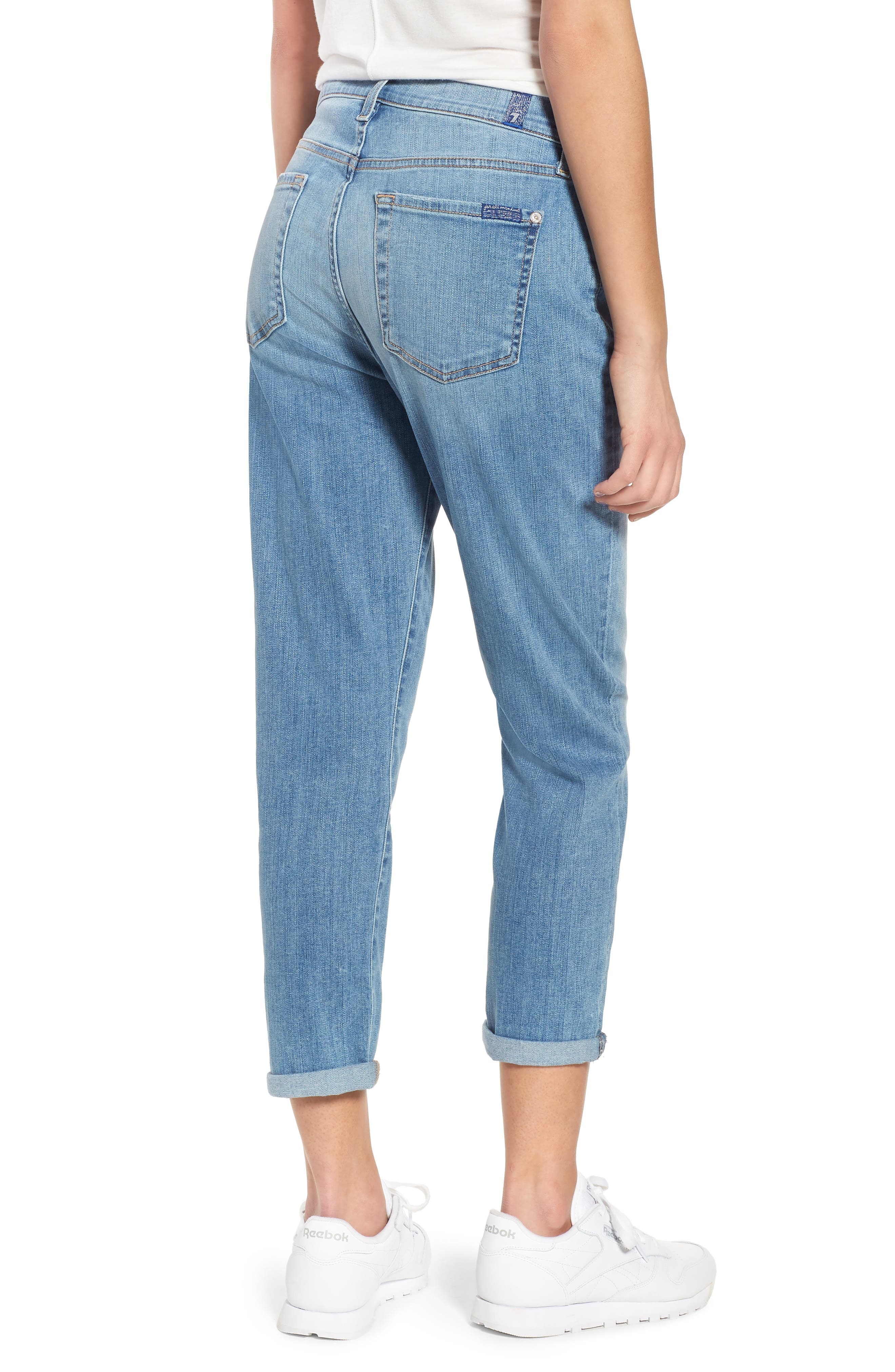 Josefina High Waist Boyfriend Jeans,                             Alternate thumbnail 2, color,