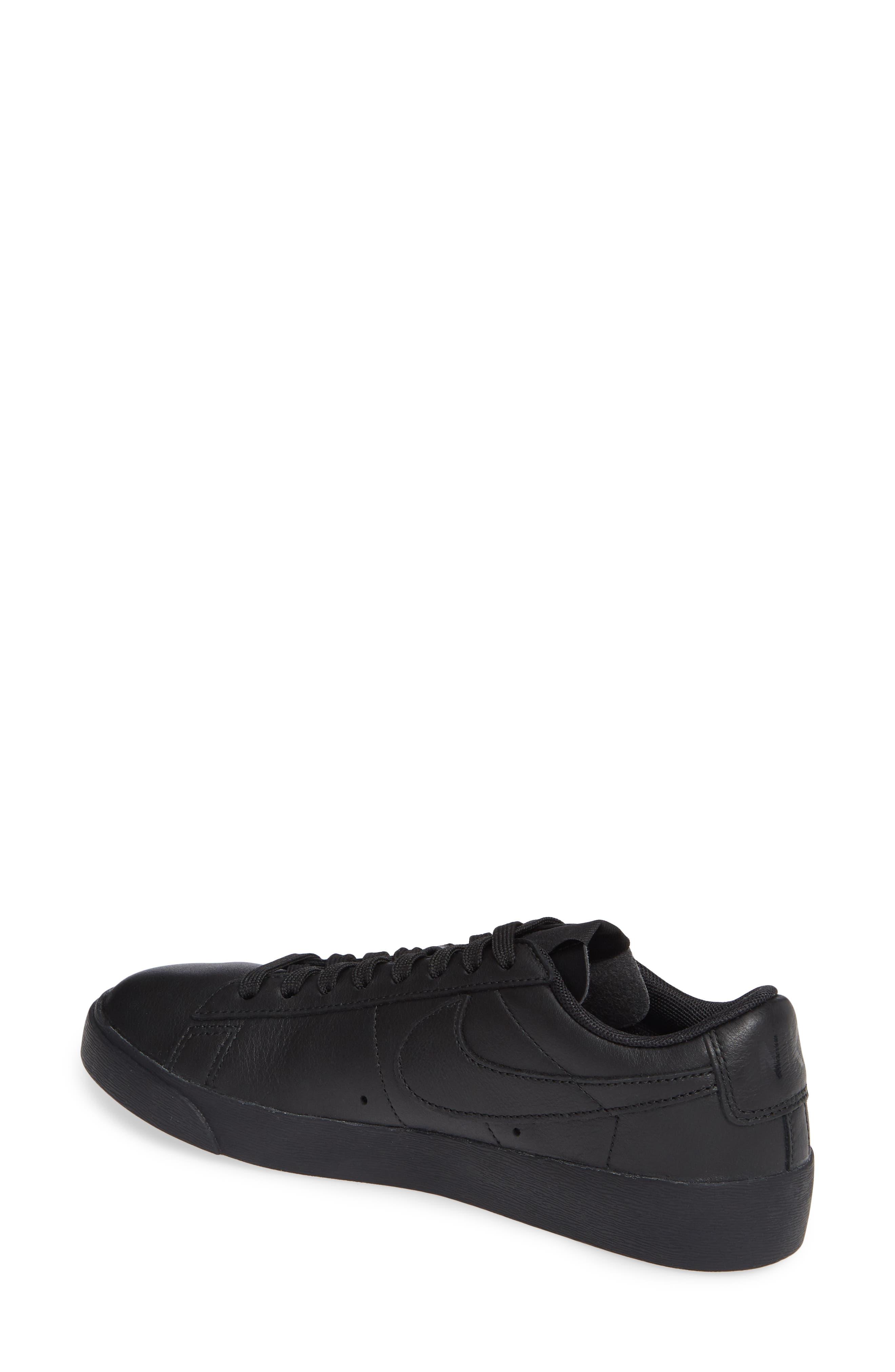 Blazer Low SE Sneaker,                             Alternate thumbnail 2, color,                             BLACK/ BLACK-BLACK