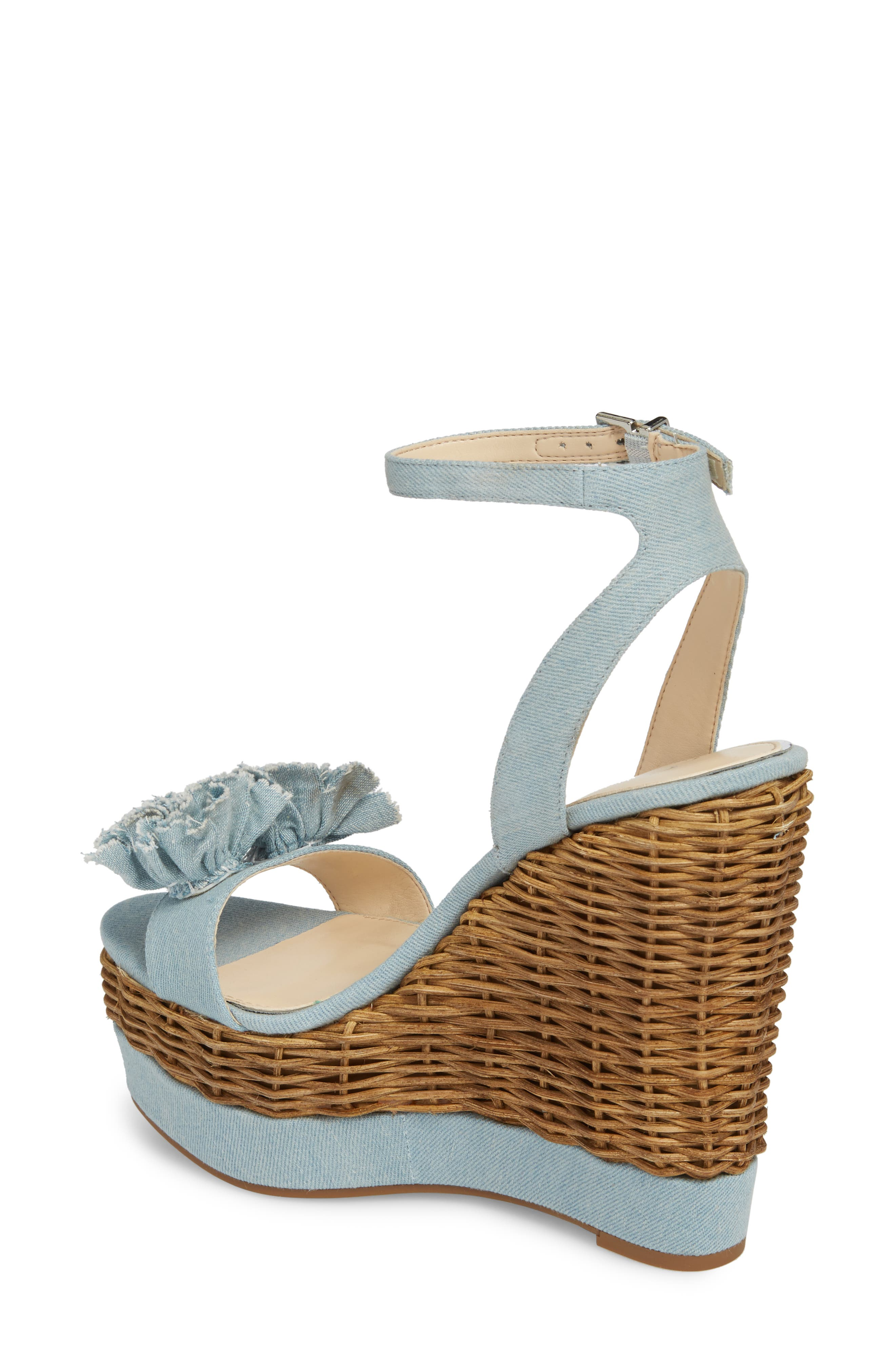 Pressa Platform Wedge Sandal,                             Alternate thumbnail 2, color,                             VINTAGE BLUE