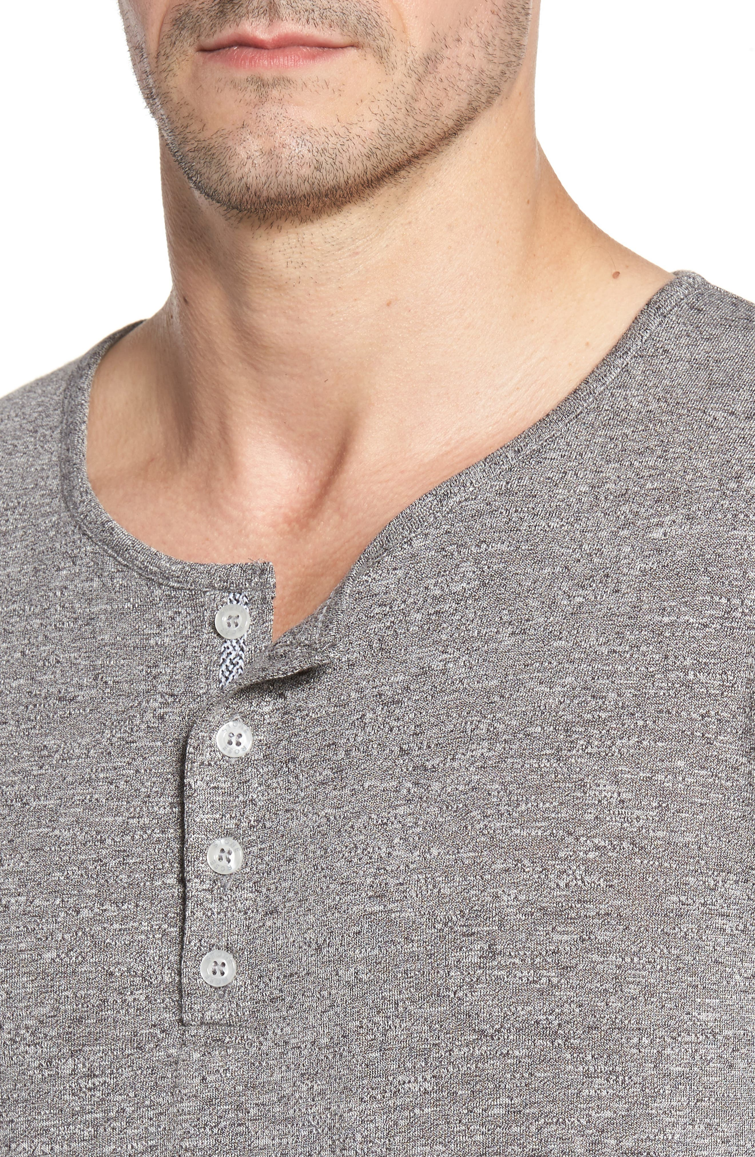 Light Flame Henley,                             Alternate thumbnail 4, color,                             GREY