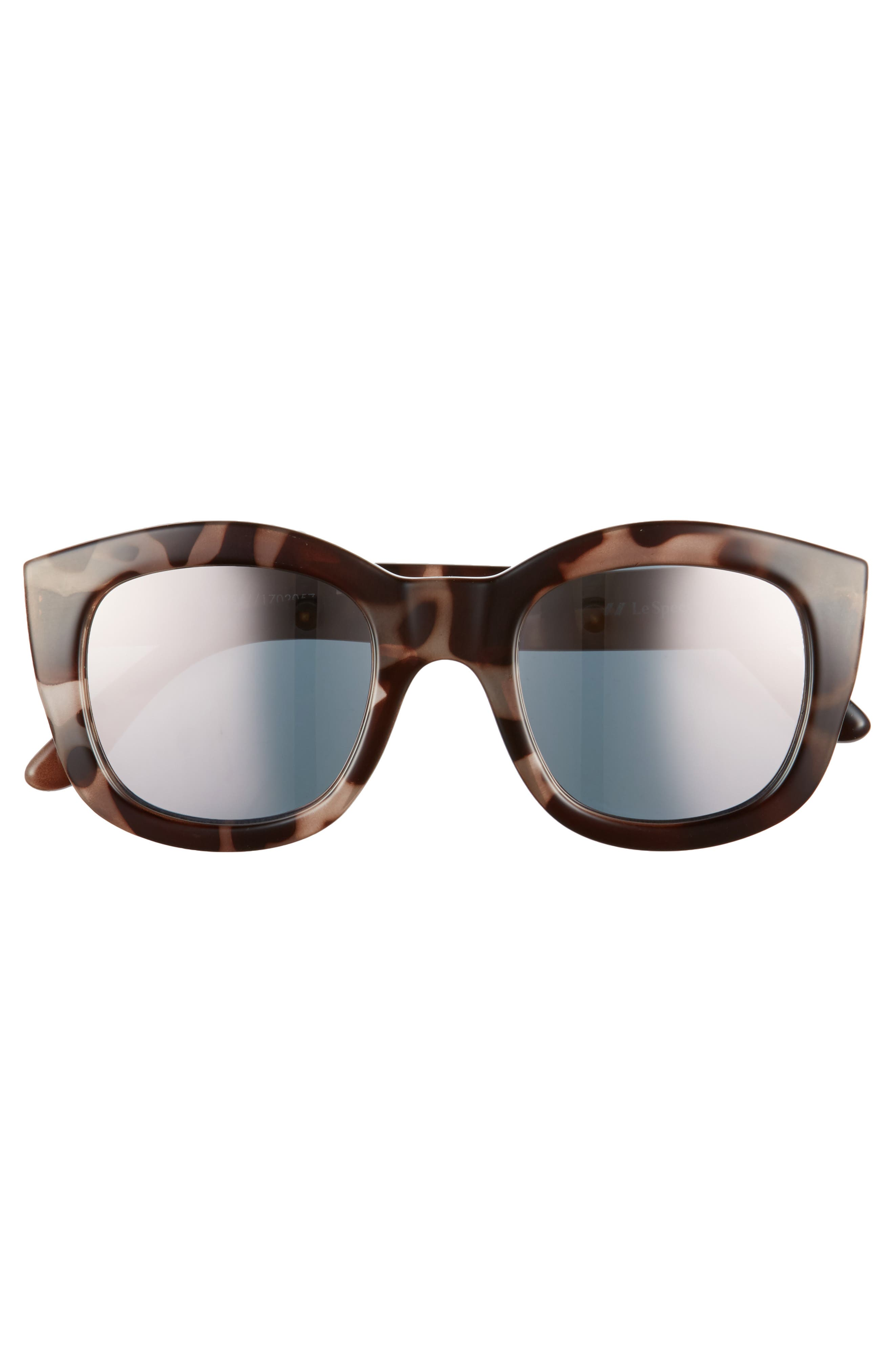 Runaways 48mm Rectangular Sunglasses,                             Alternate thumbnail 3, color,                             200