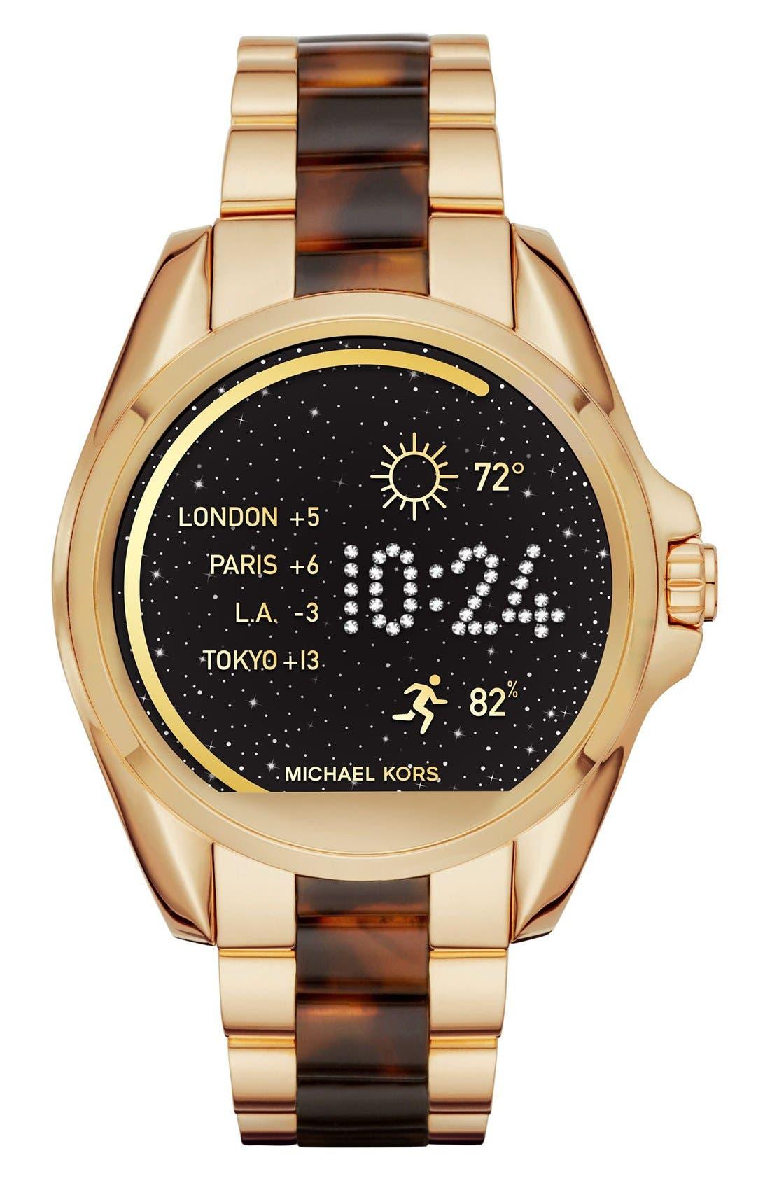 MICHAEL Michael Kors Bradshaw Access Bracelet Smart Watch, 45mm,                             Main thumbnail 10, color,