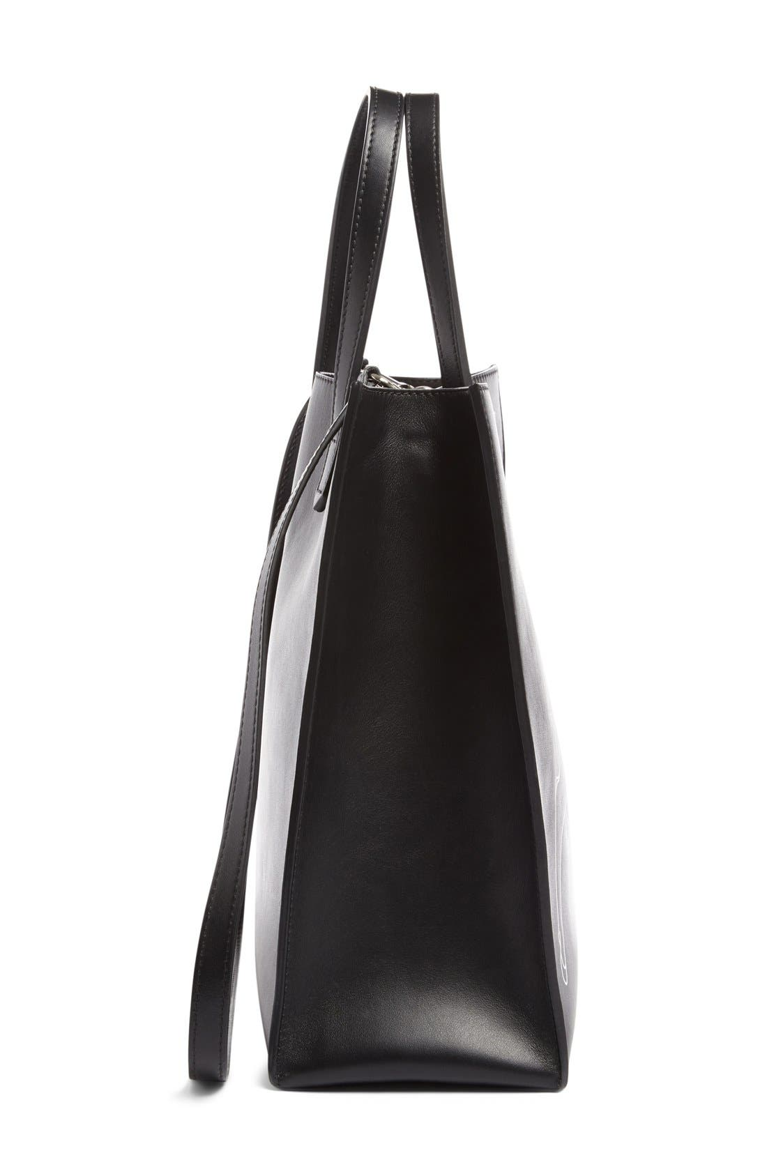 Medium Stargate Bambi<sup>™</sup> Leather Tote,                             Alternate thumbnail 8, color,                             001