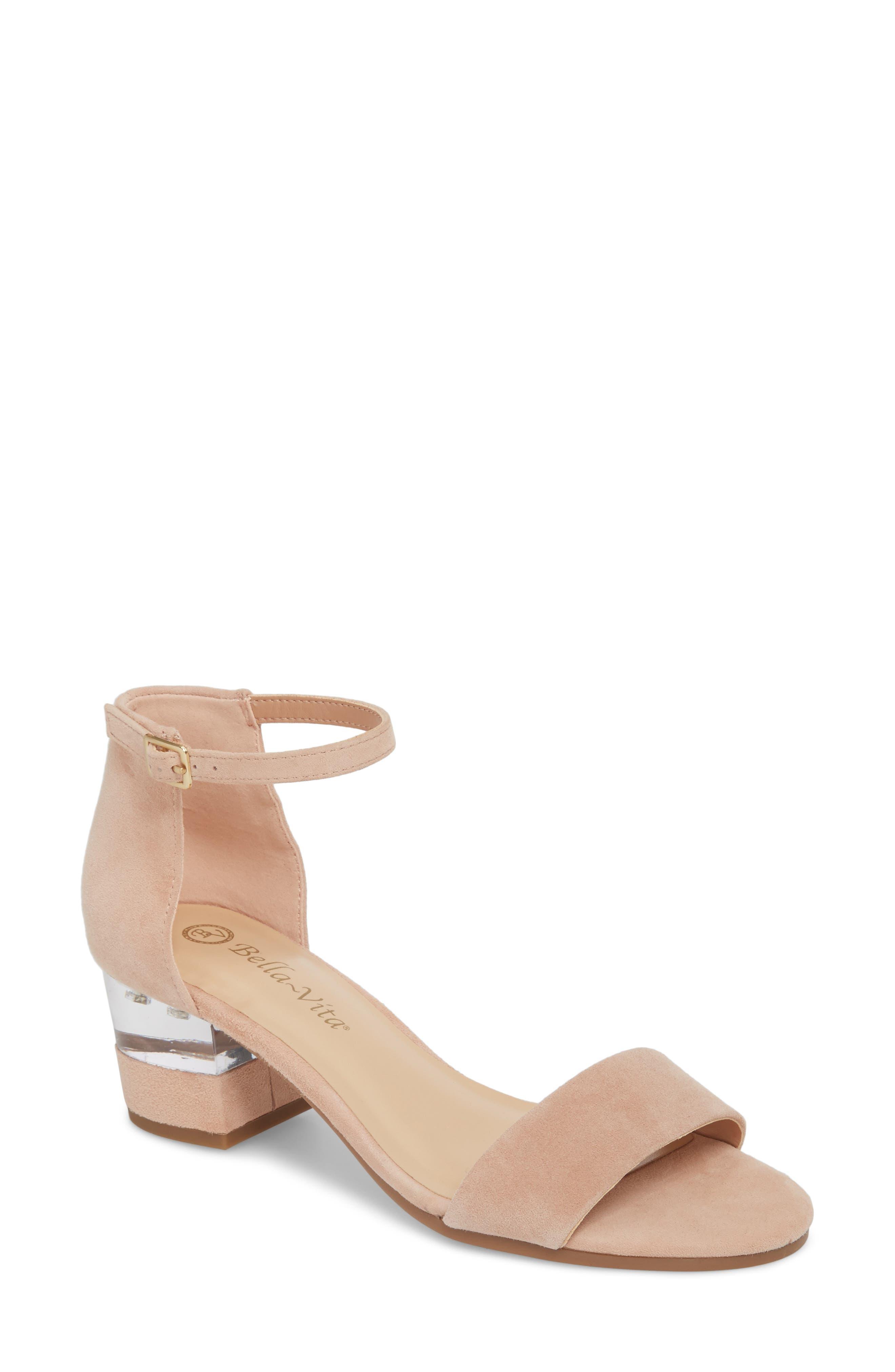 Bella Vita Fitz Block Heel Sandal, WW - Pink
