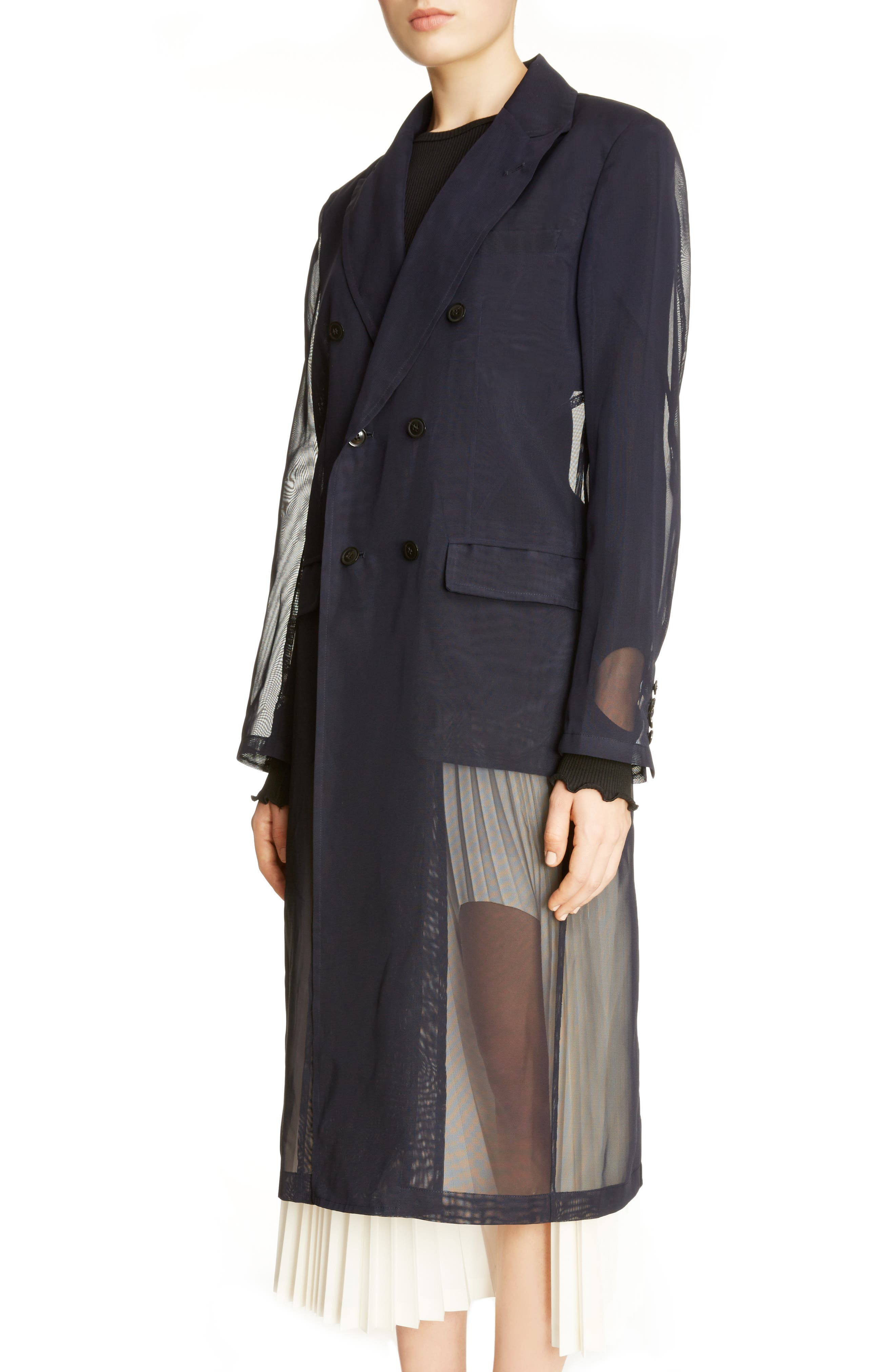 Transparent Trench Coat,                             Alternate thumbnail 3, color,